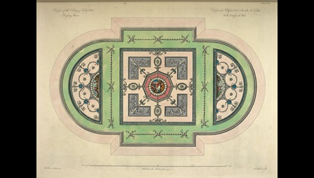 This plate shows the Adams's design for the ceiling of Lady Bute's dressing room.