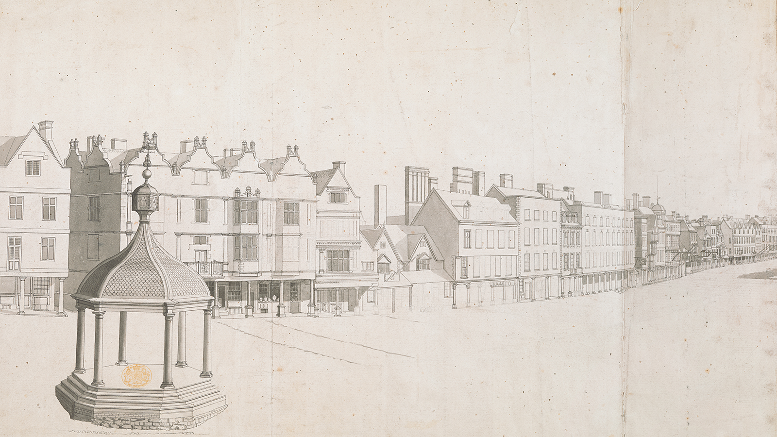 Thomas Sandby panorama of Nottingham