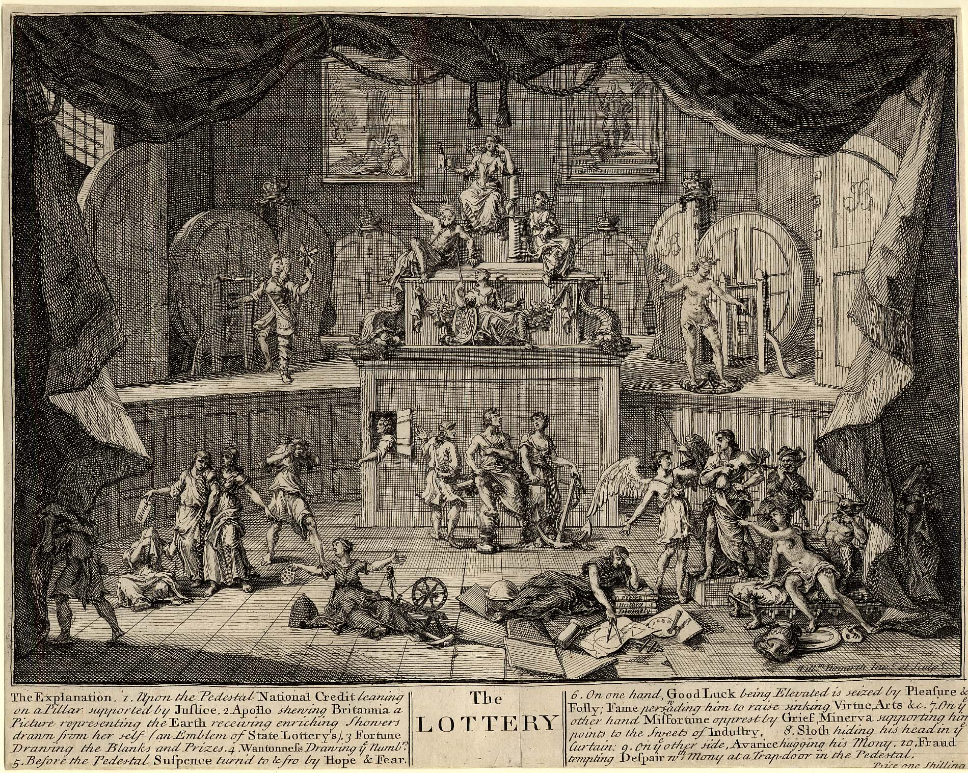 The Lottery, by William Hogarth