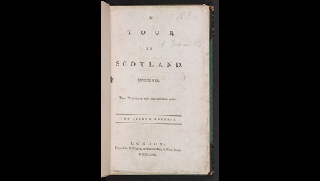 A Tour in Scotland title page