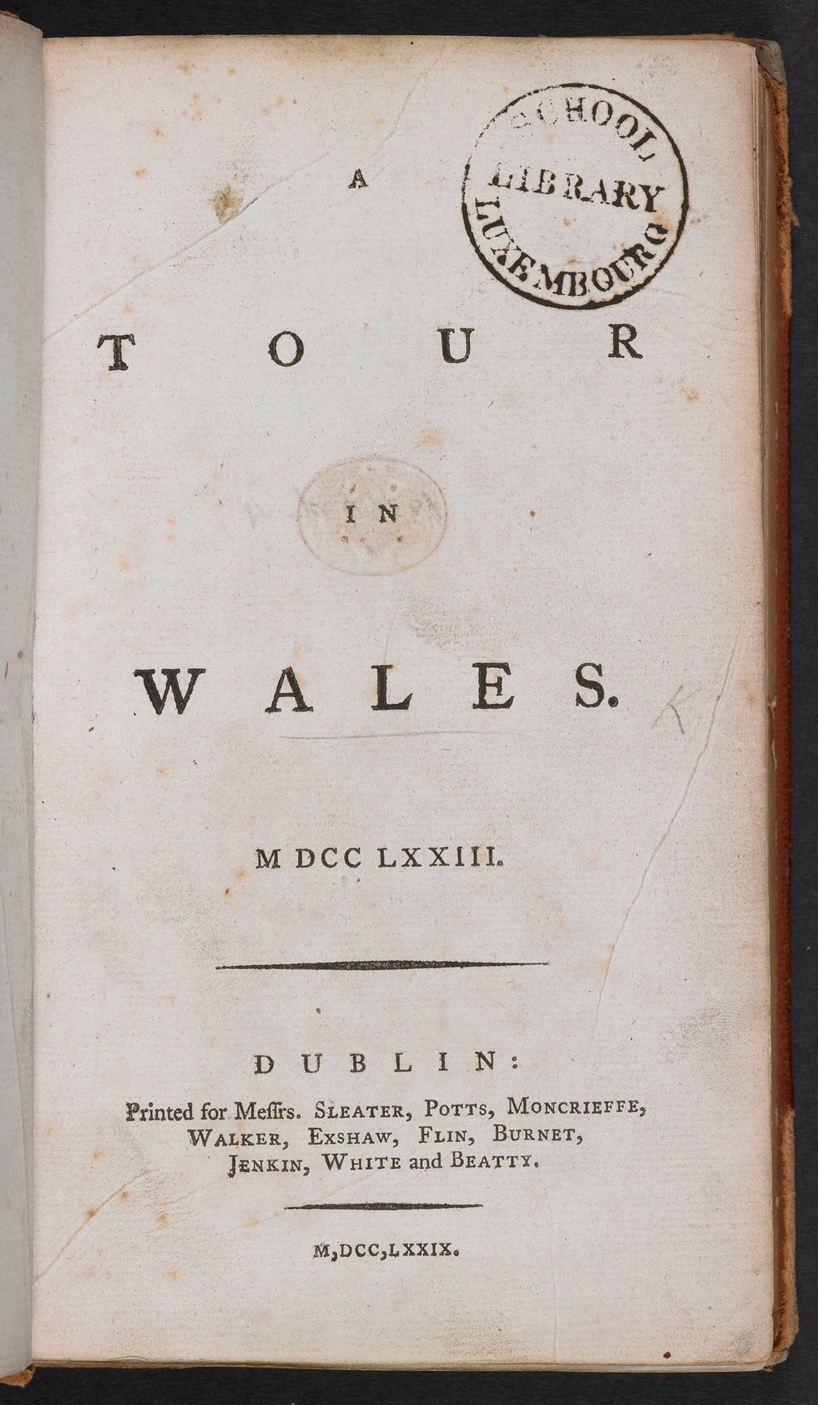 A Tour in Wales title page