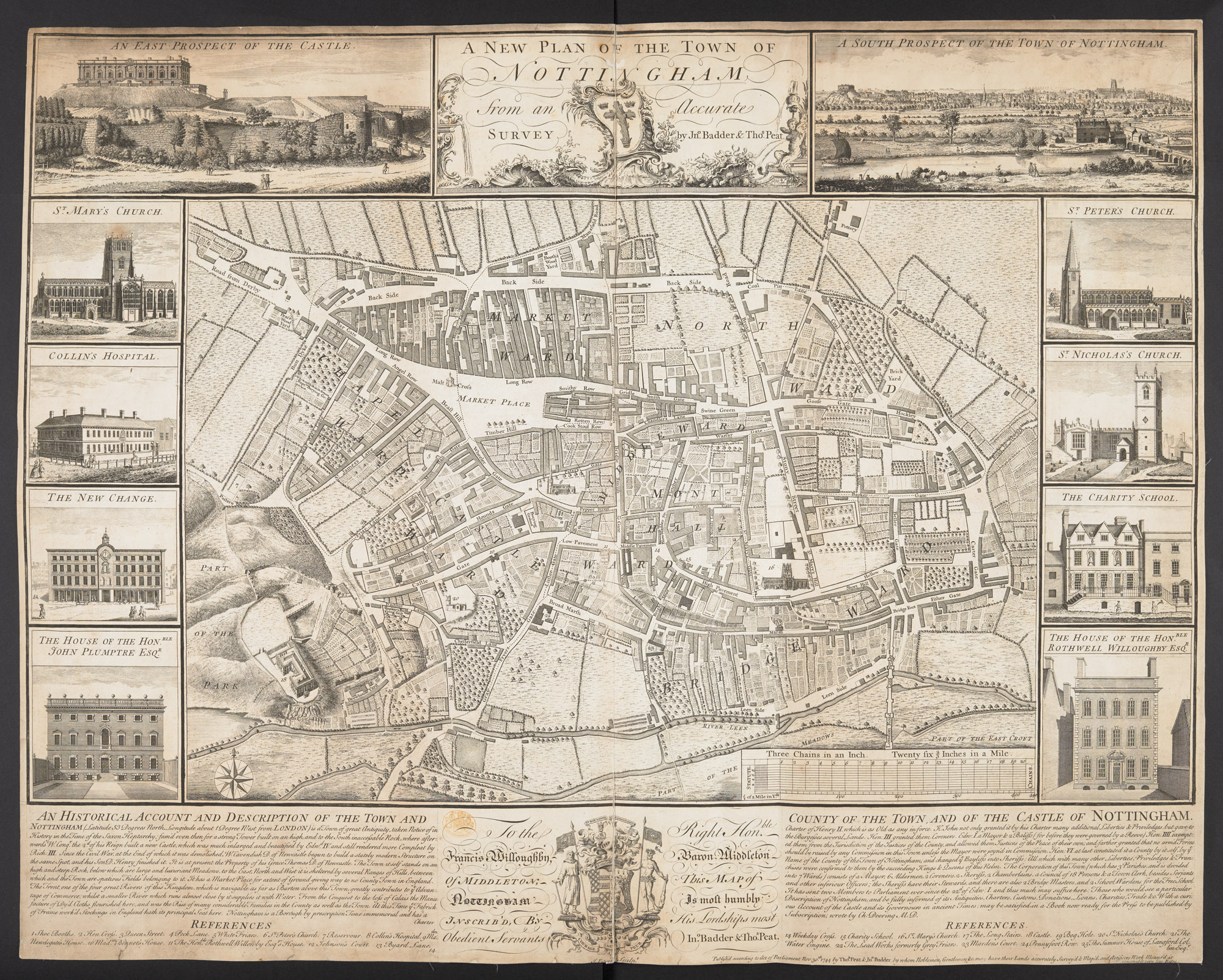 A new plan of the town of Nottingham