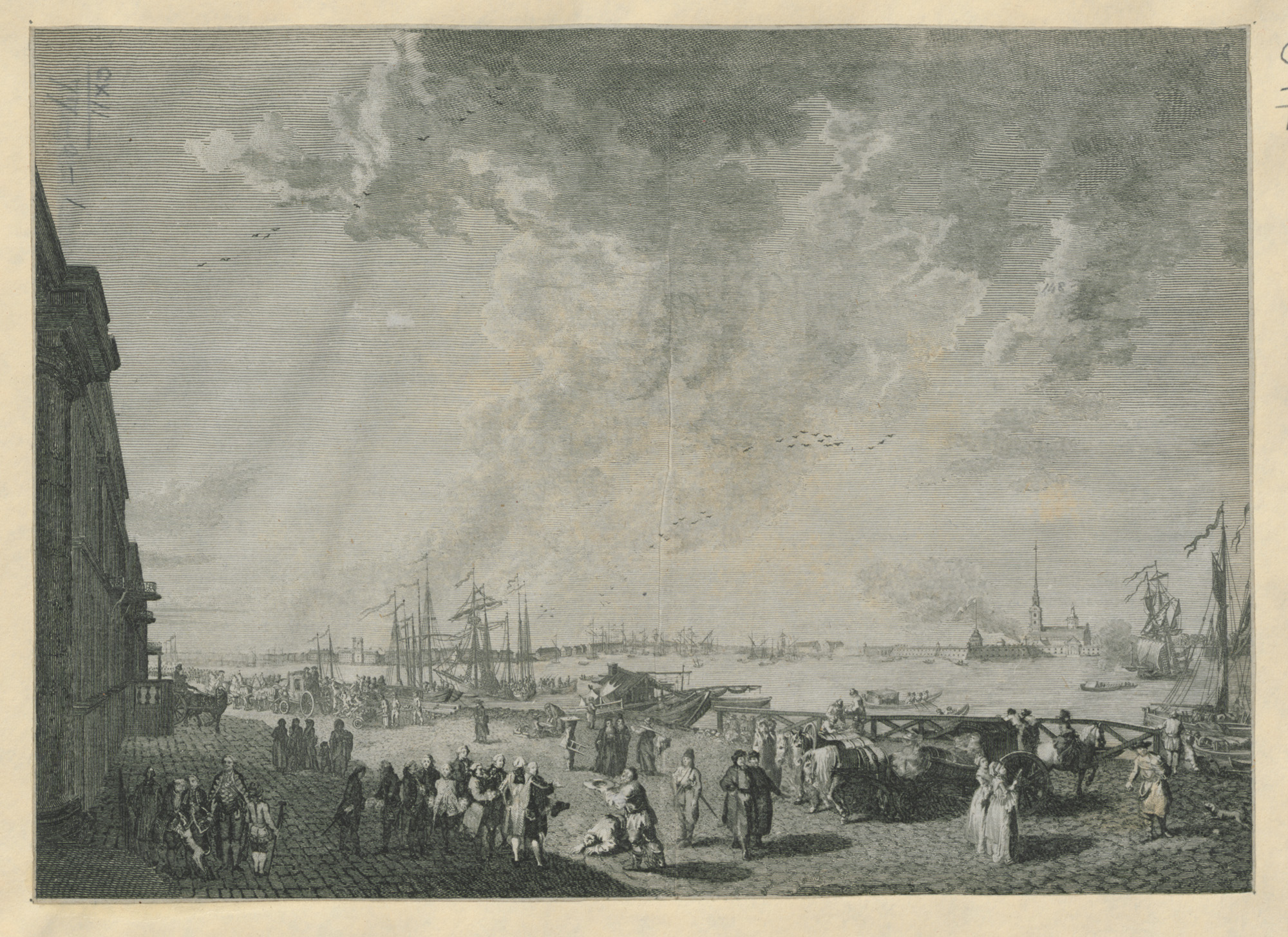 print showing the Neva River in St Petersburg