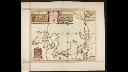 Map of the North Pole, and parts adjoining made by Moses Pitt in 1680