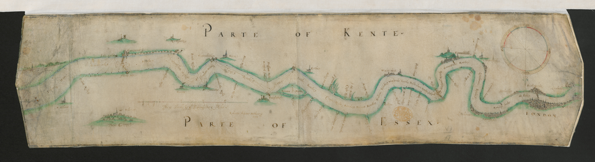 hand-drawn plan of the River Thames was owned by Queen Elizabeth I (