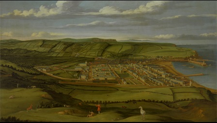 painting of Whitehaven, Cumbria