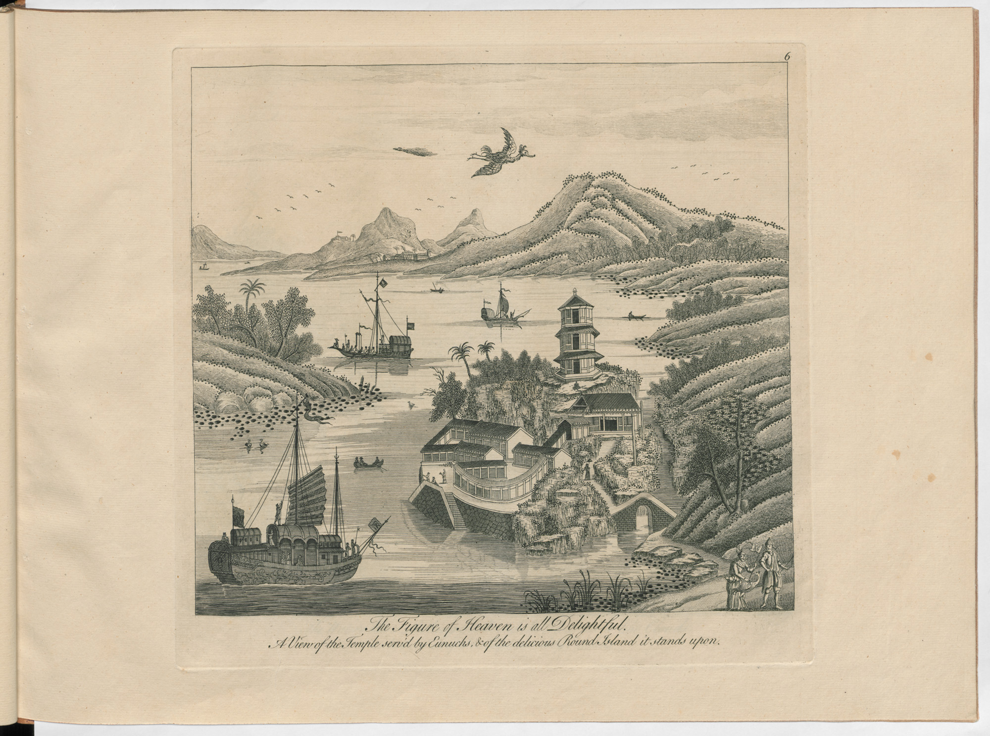 An 18th century engraving of Imperial China, 'the Figure of heaven is all delightful'
