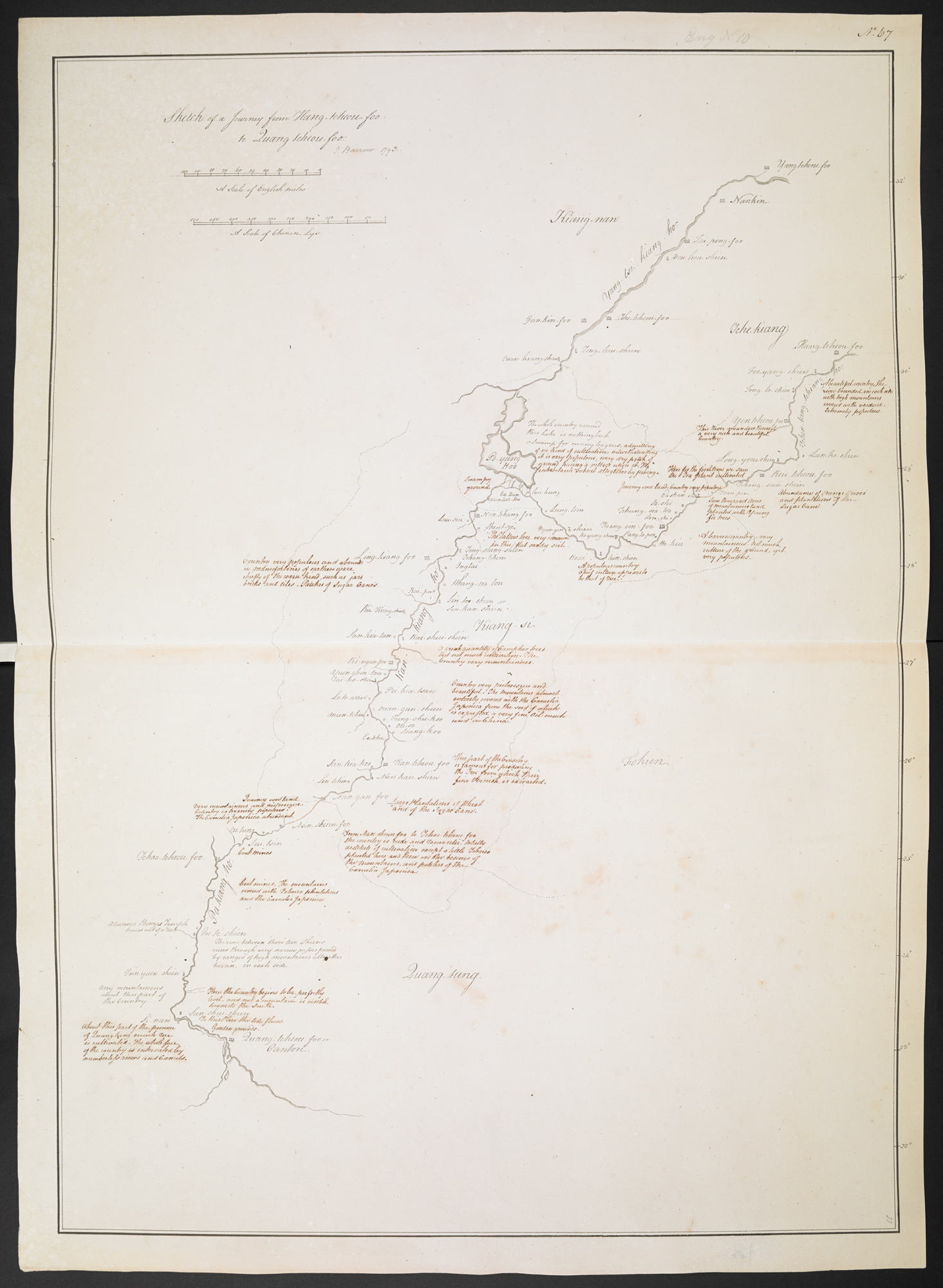 Sketch of a Journey from Hang-tcheou-foo to Quang-tcheou-foo.