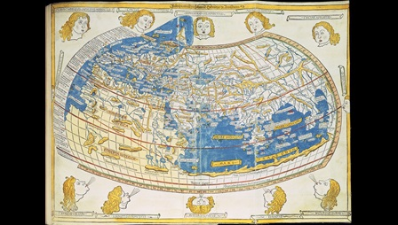 Ptolemy's World Map published in Ulm, 1482
