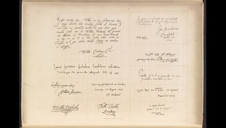 Page from Autographs of royal, noble, learned, and remarkable personages conspicuous in English history by John Gough Nichols