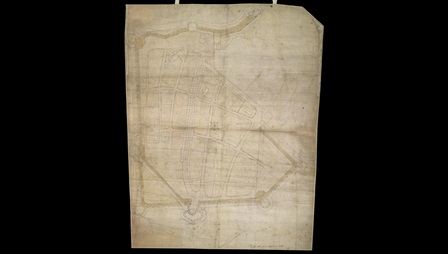 Map of Portsmouth of 1545, first map in England to be drawn to scale