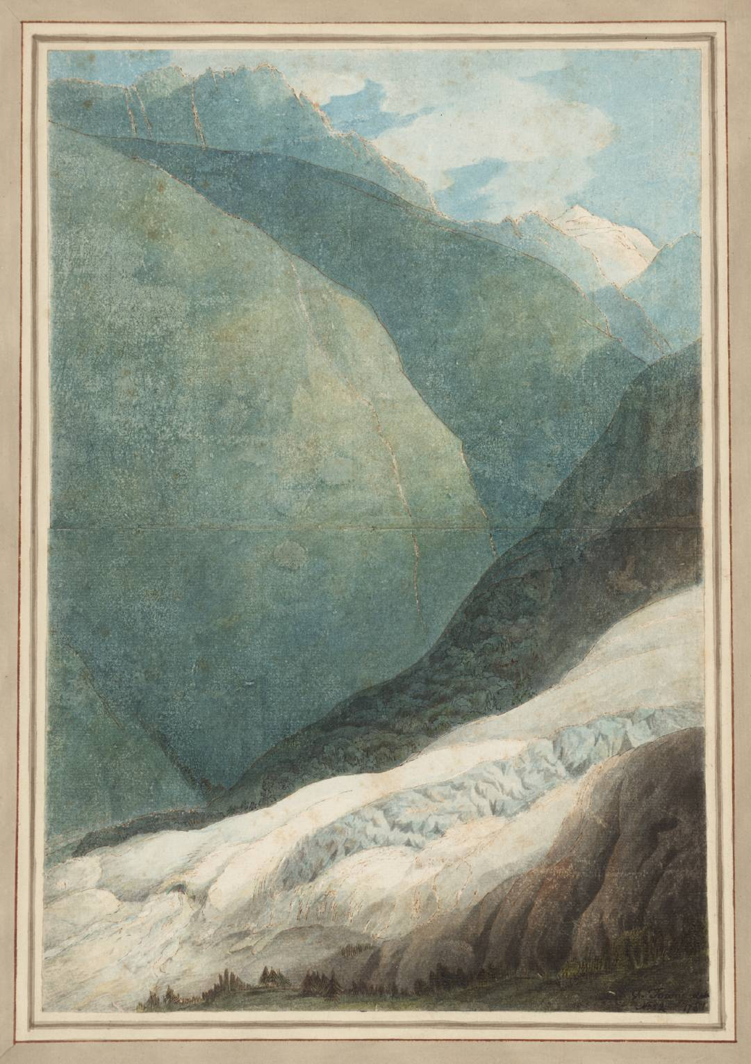The Source of the Arveyron, Francis Towne, 1781 (Tate)