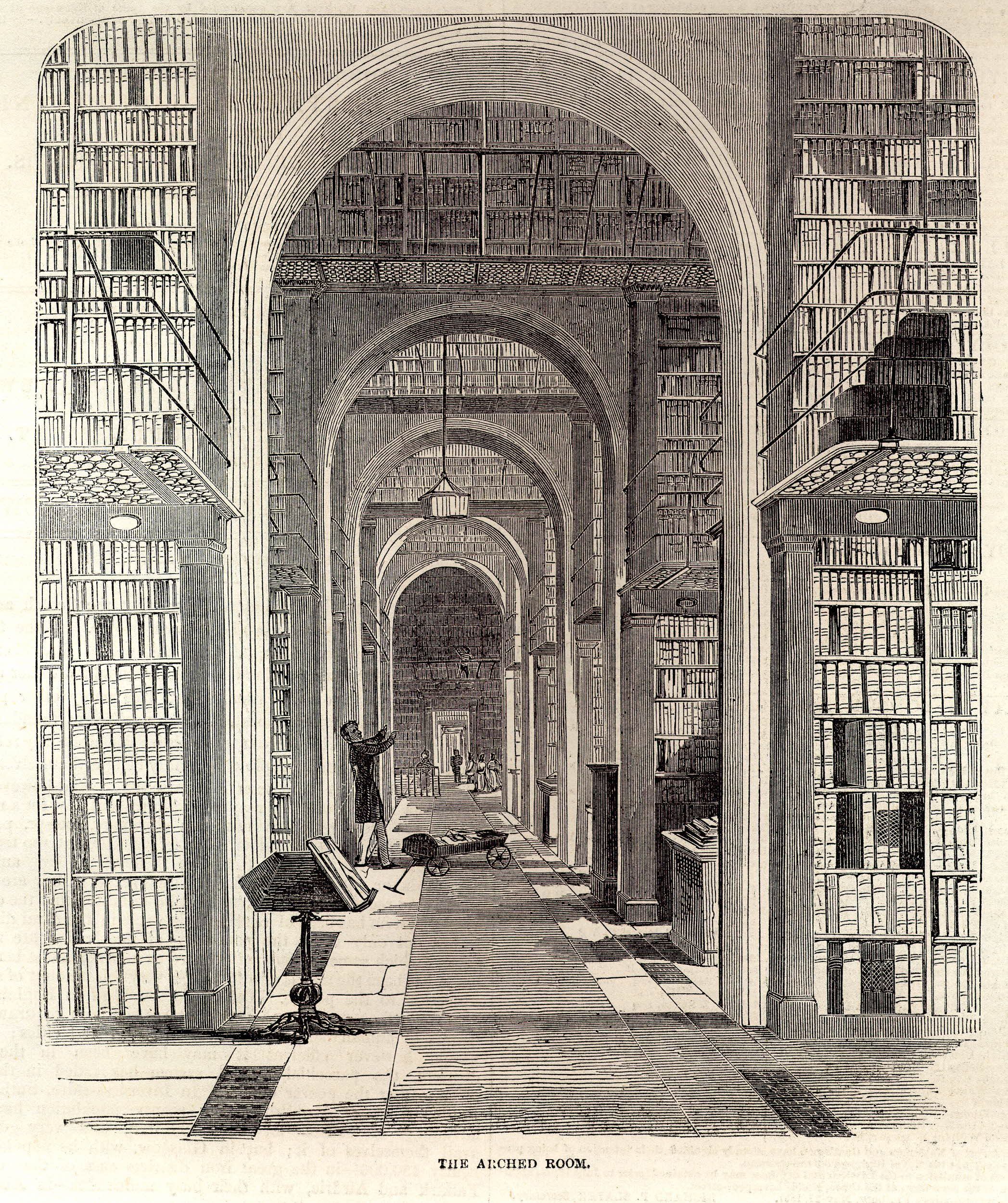 Unknown artist, The Arch Room, 1851, wood engraving, 41 x 28 cm, published in The Illustrated London News, vol.18, 7 June, 1851 (London: Illustrated London News & Sketch Ltd., 1842-) British Museum, EPH-ME.704