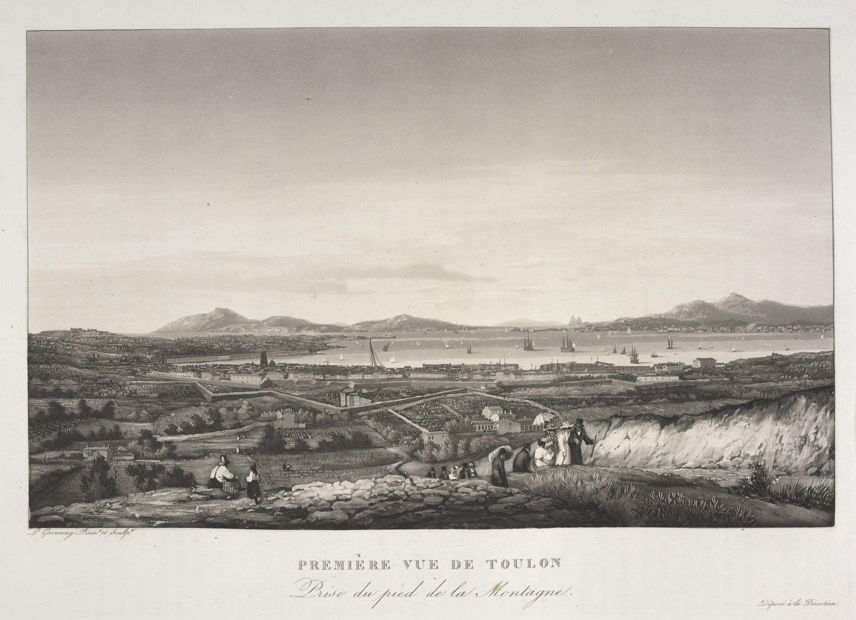Première Vue de Toulon Prise du Pied de la Montagne