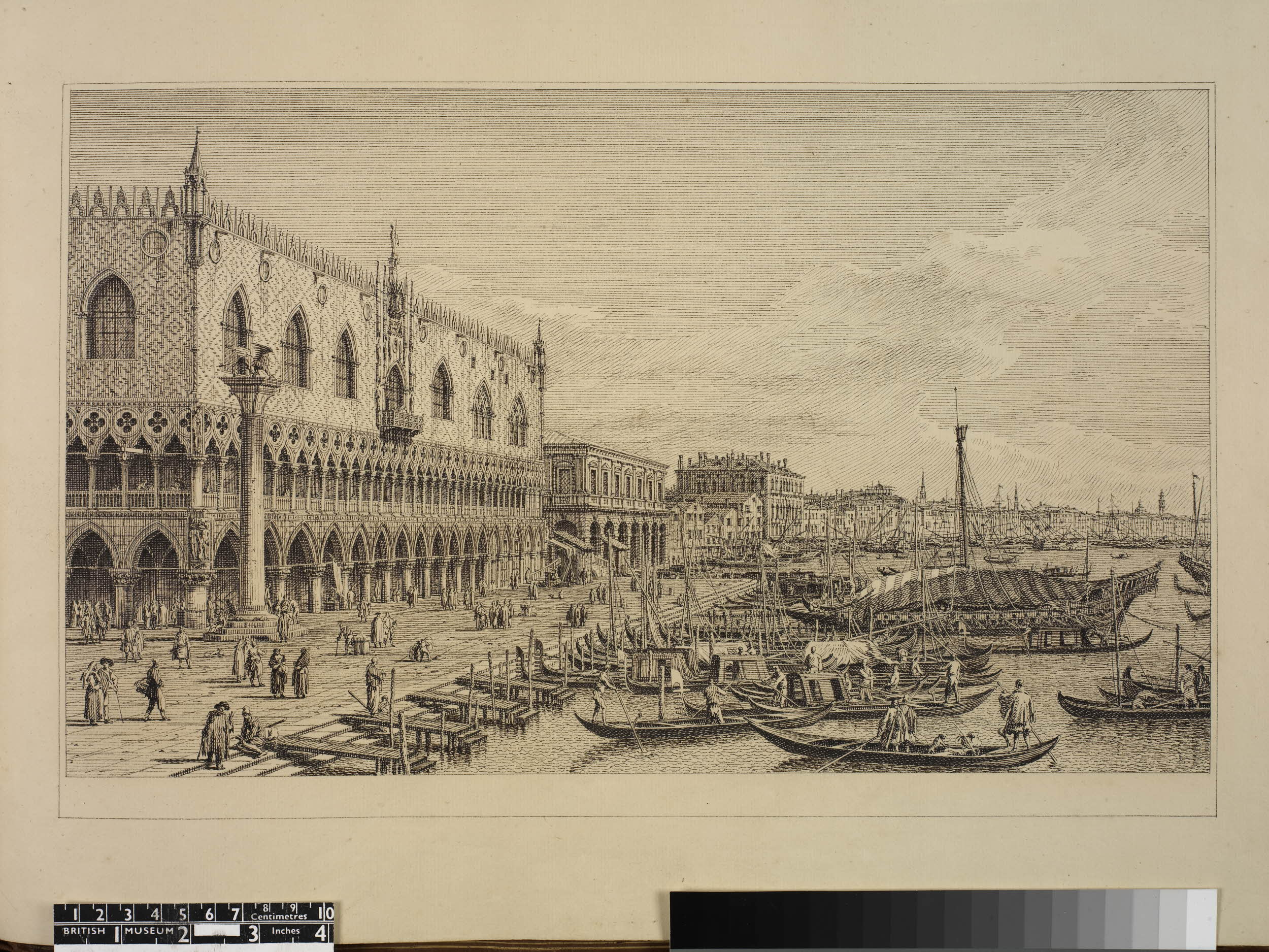 View from the Piazza San Marco to the Schiavoni after Antonio Canaletto
