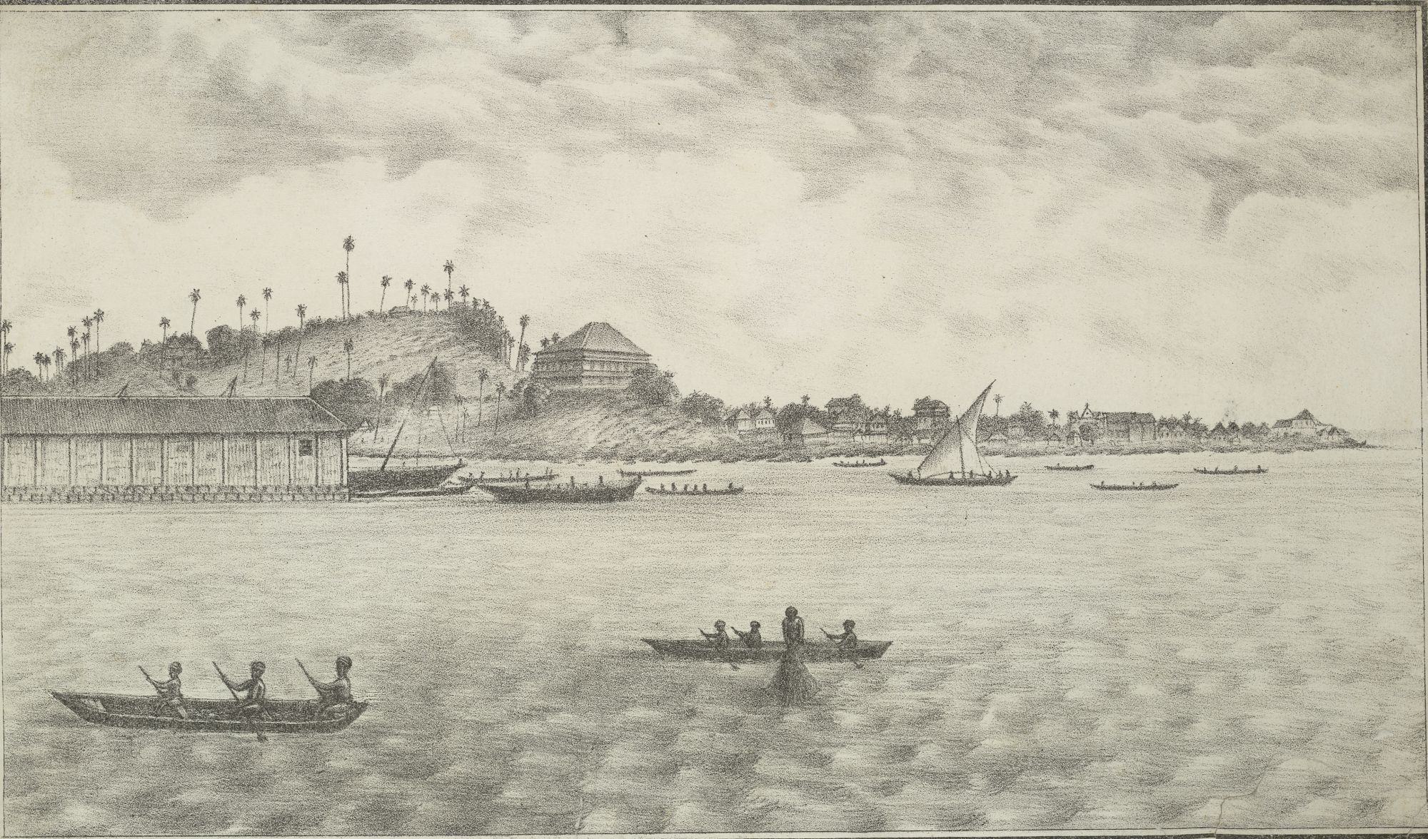 View of Mazagon in J M Gonsalves Lithographic Views of Bombay