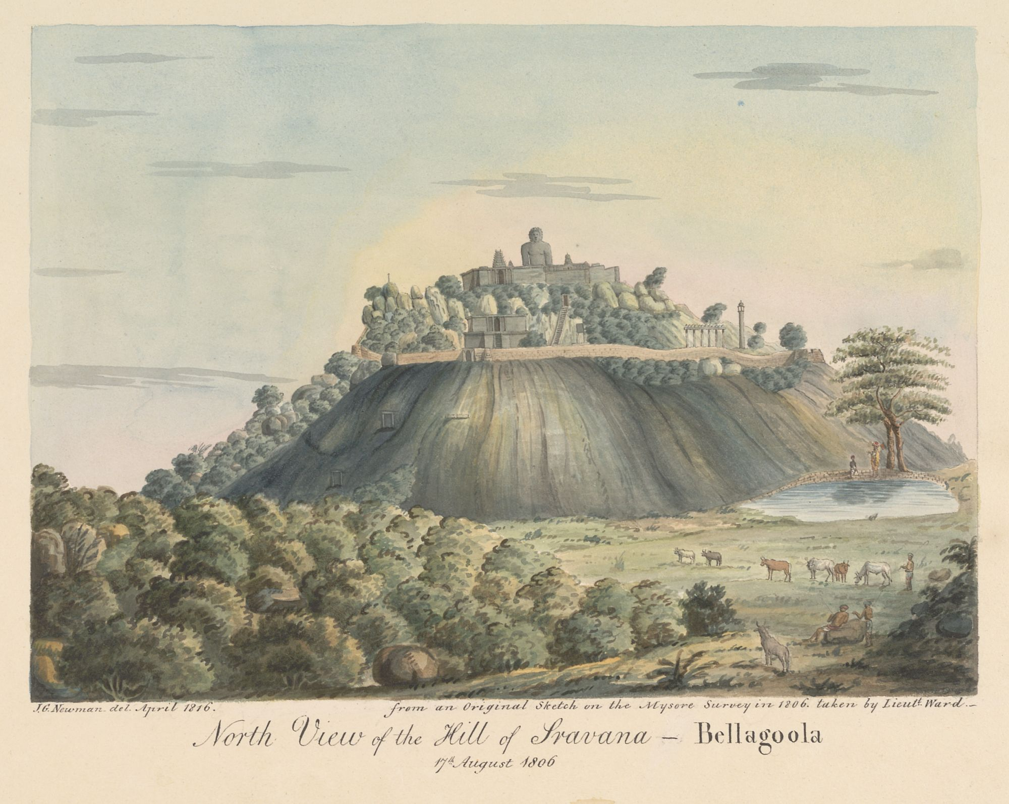 North View of the Hill of Sravana – Bellagoola, by John Newman after Benjamin Swain Ward.