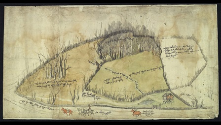 View of the Fields at Newnham, Hampshire, mid-sixteenth century