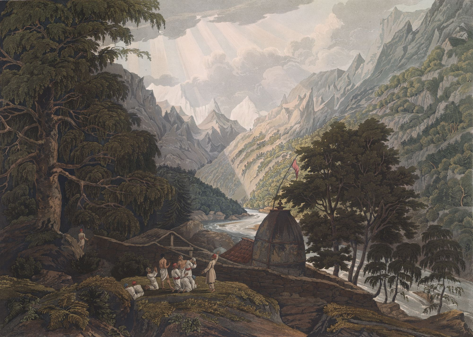 Gangotri, the Holy Shrine of Mahadeo, by Robert Havell & Son after James Baillie Fraser.