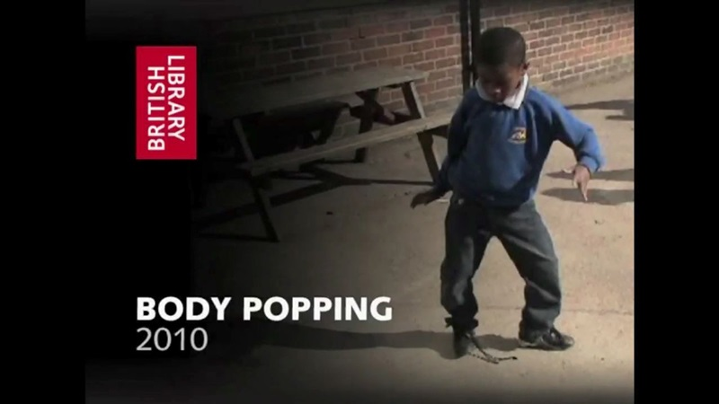 Contemporary film still of school child bodypopping