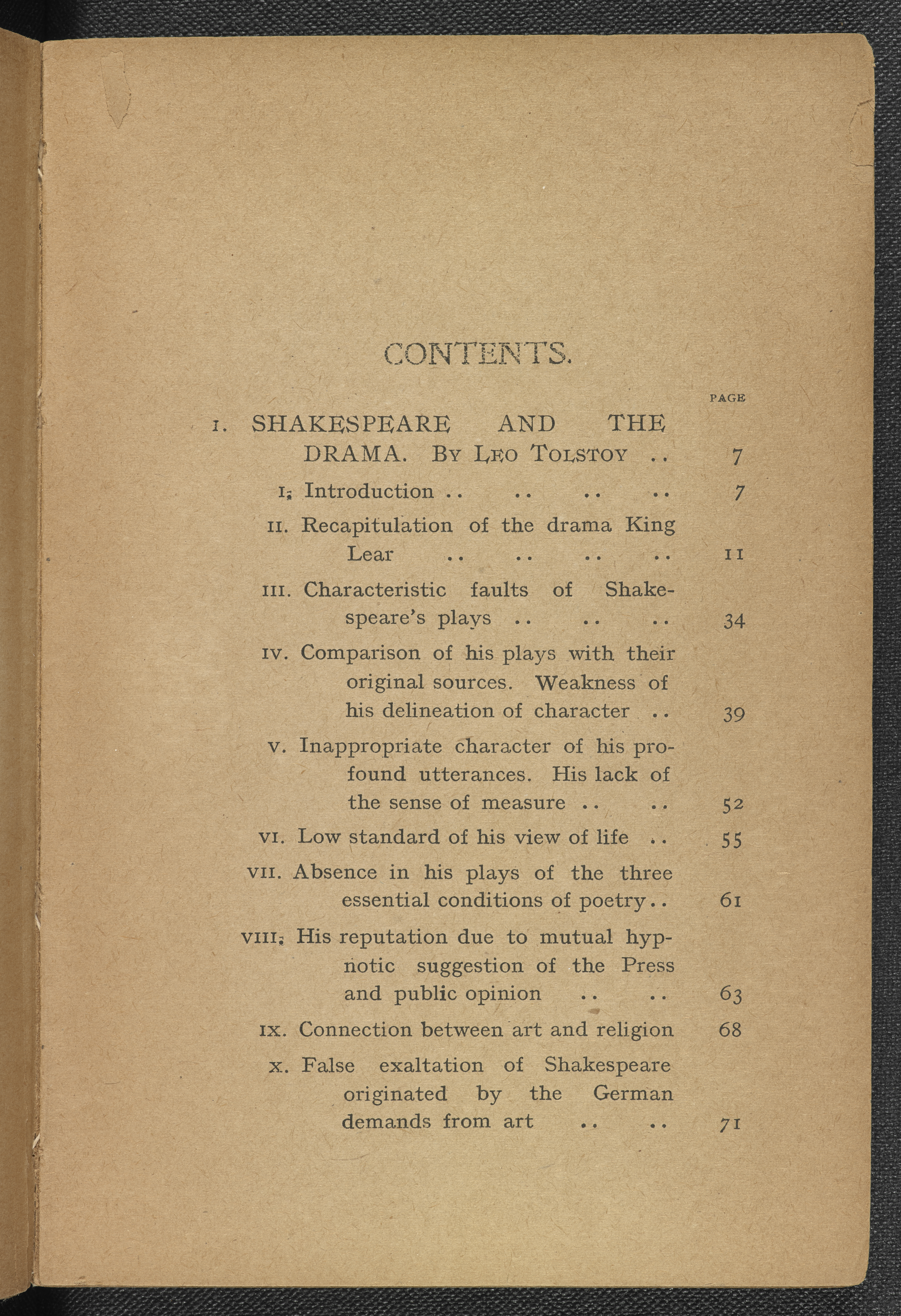 Tolstoy on Shakespeare (1907) to go on display in 'Shakespeare in Ten Acts'