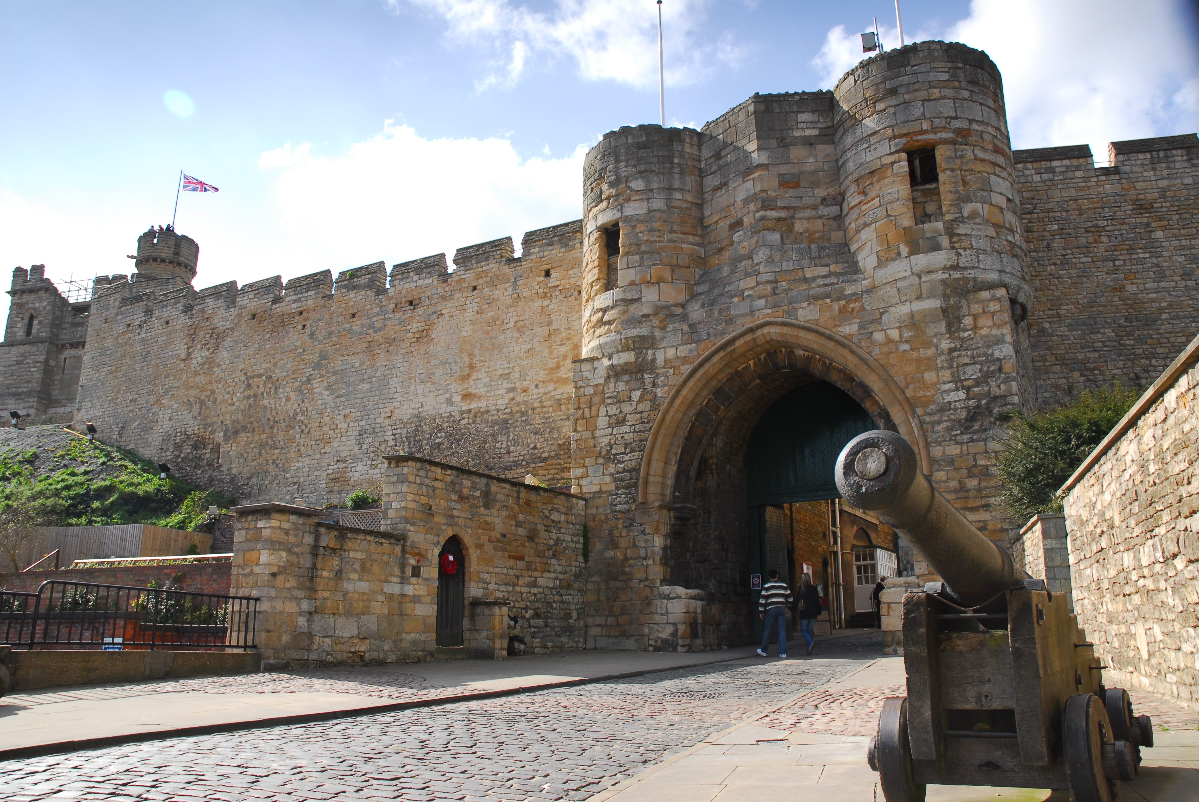 Lincoln Castle, where the Magna Carta manuscript belonging to Lincoln Cathedral to go on display in the newly-built Magna Carta Vault after the unification event.
