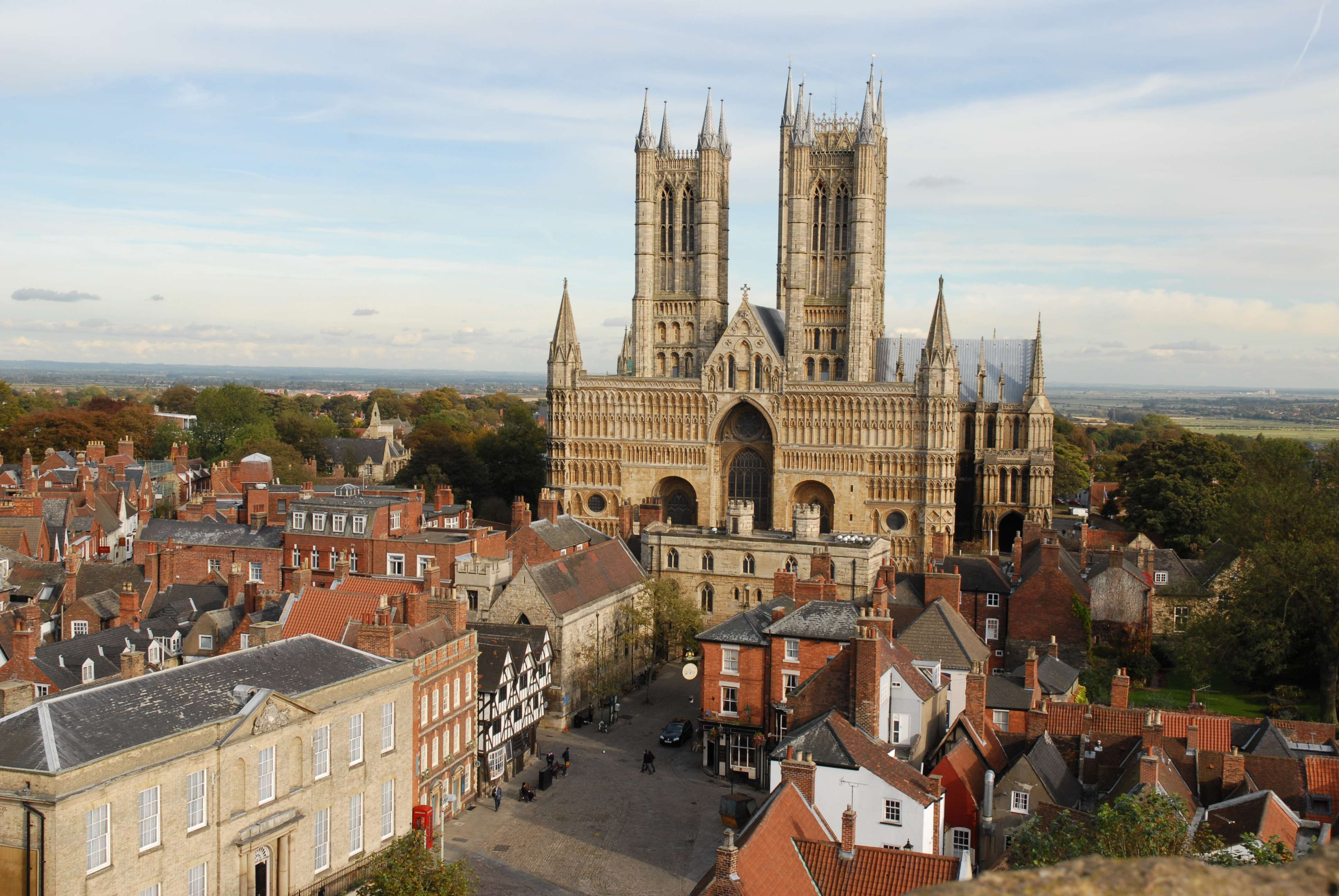 Lincoln Cathedral, the home of the one of the four surviving Magna Carta manuscripts on display in the unification event.