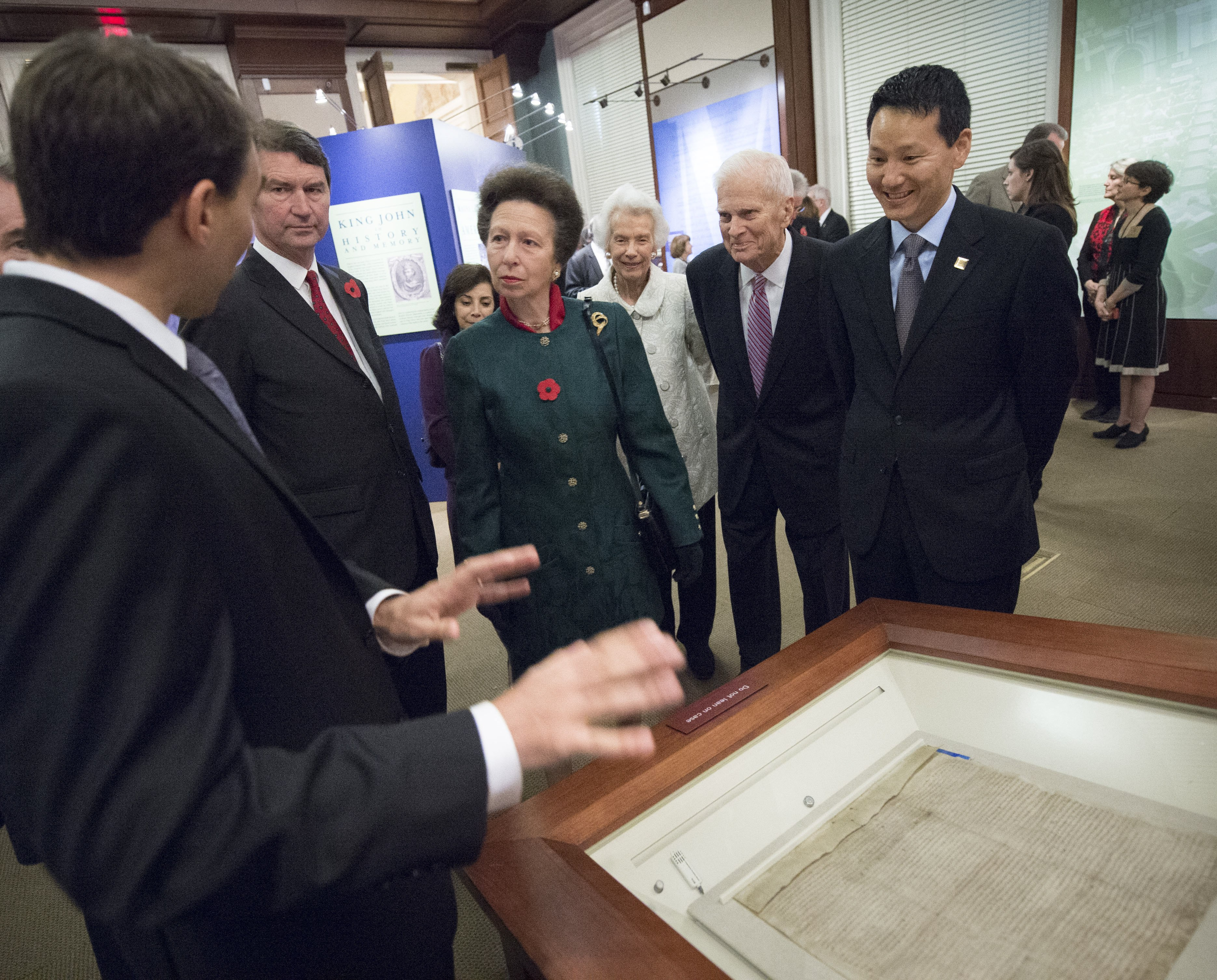 The Lincoln Magna Carta manuscript on display in the Library of Congress in November 2014. More than 200,000 people went to see it when it was on display in Washington and Massachusetts.
