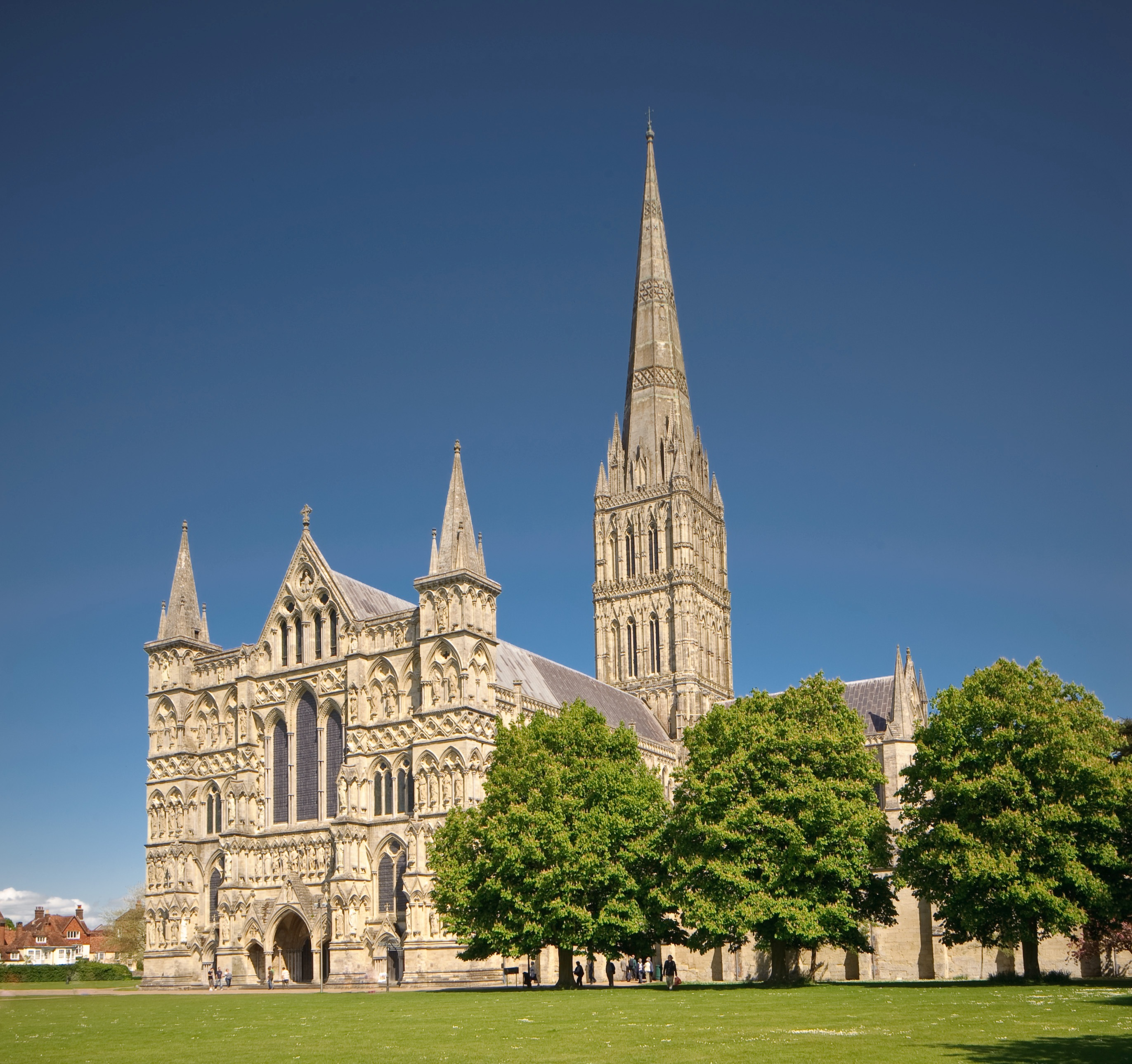 Salisbury Cathedral, the home of one of the four surviving Magna Carta manuscripts on display in the unification event.