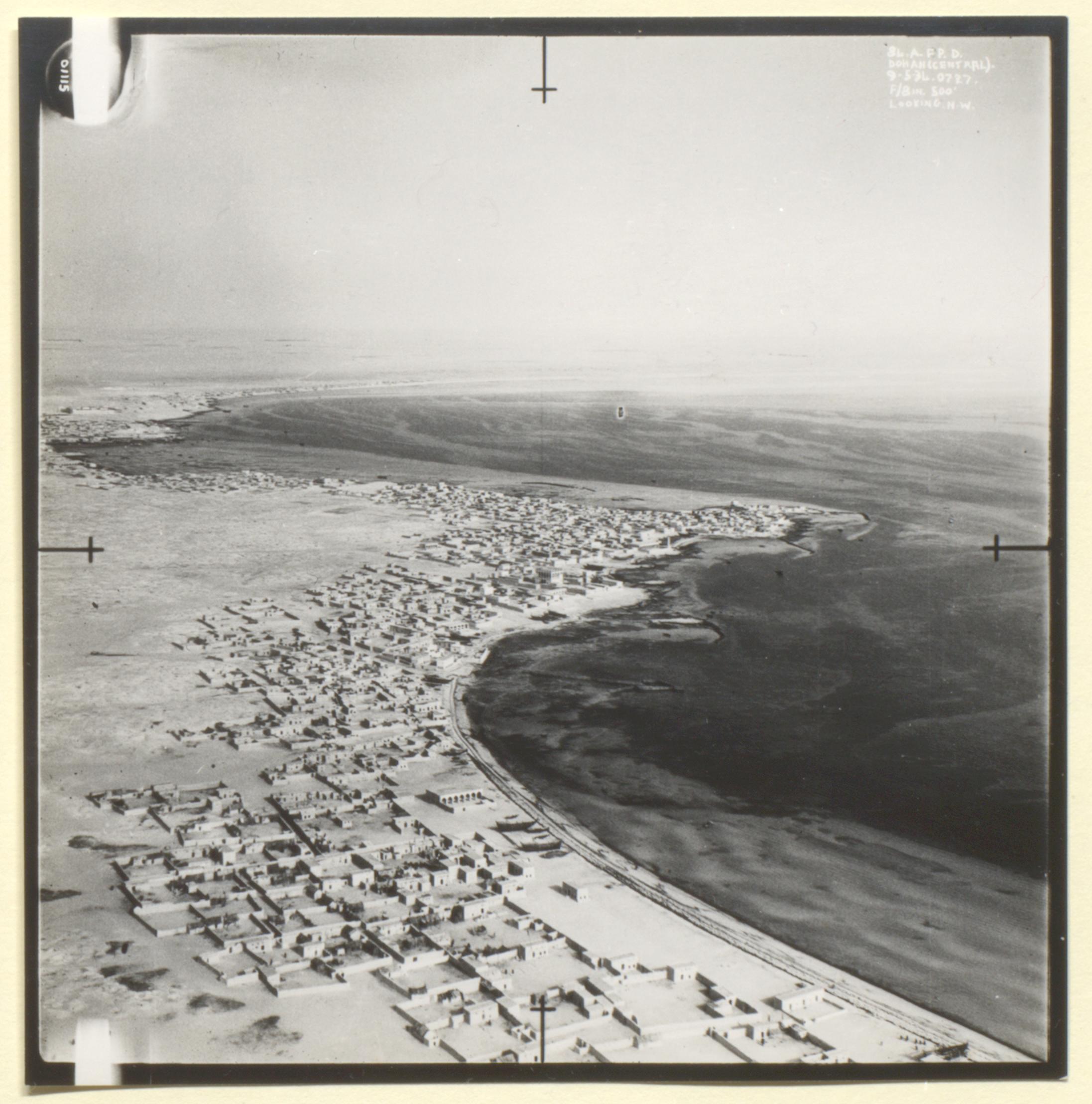 3rd Royal Air Force photograph of Doha, Kara-Ana and Raiyan from a the file 'Air-route to India: Arab coast route; emergency landing ground at Qatar' (1934) (IOR/L/PS/12/1956)