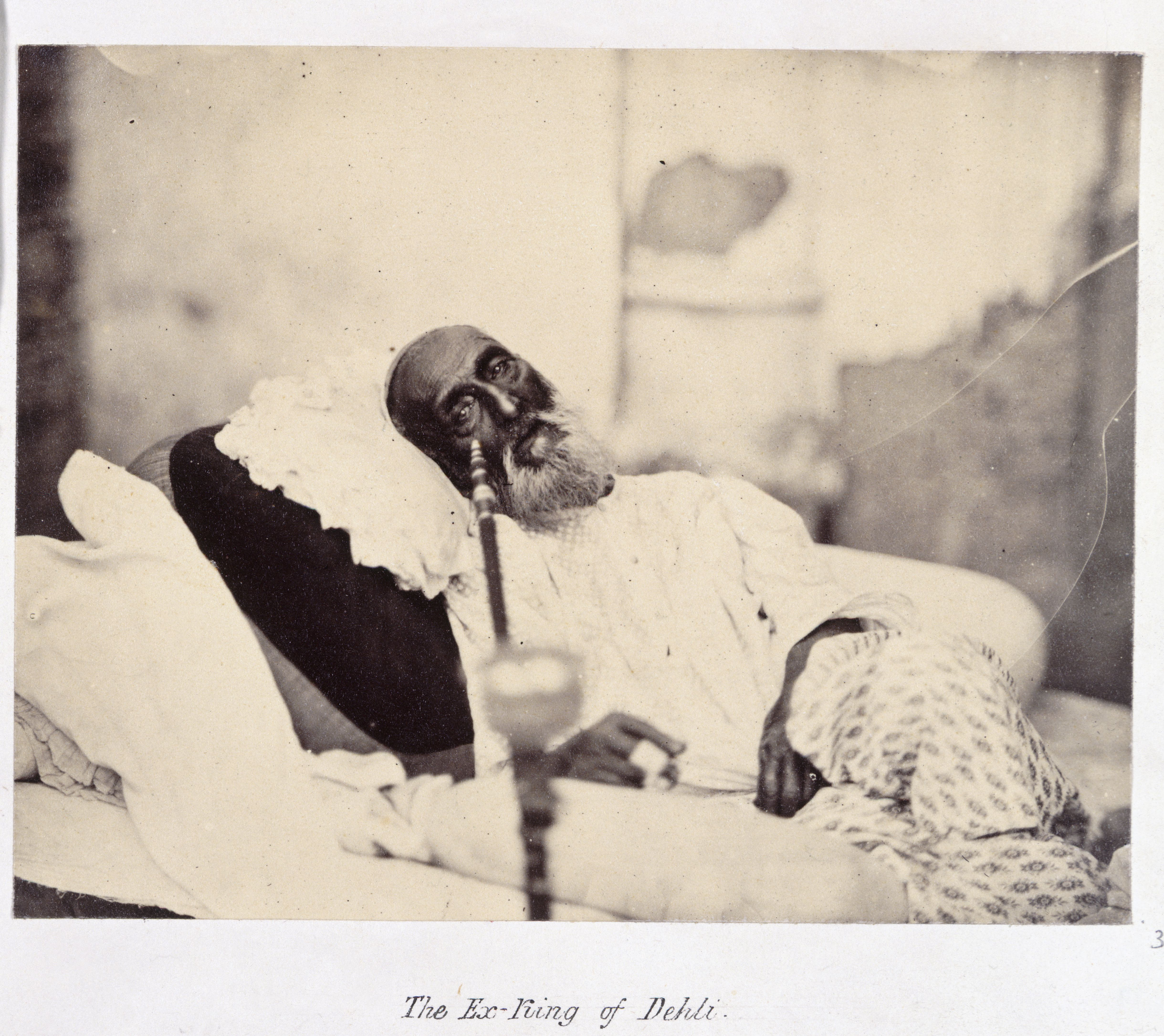 The Ex-King of Delhi Bahadur Shah II awaiting trial May 1858 on display in Mughal India c British Library Board