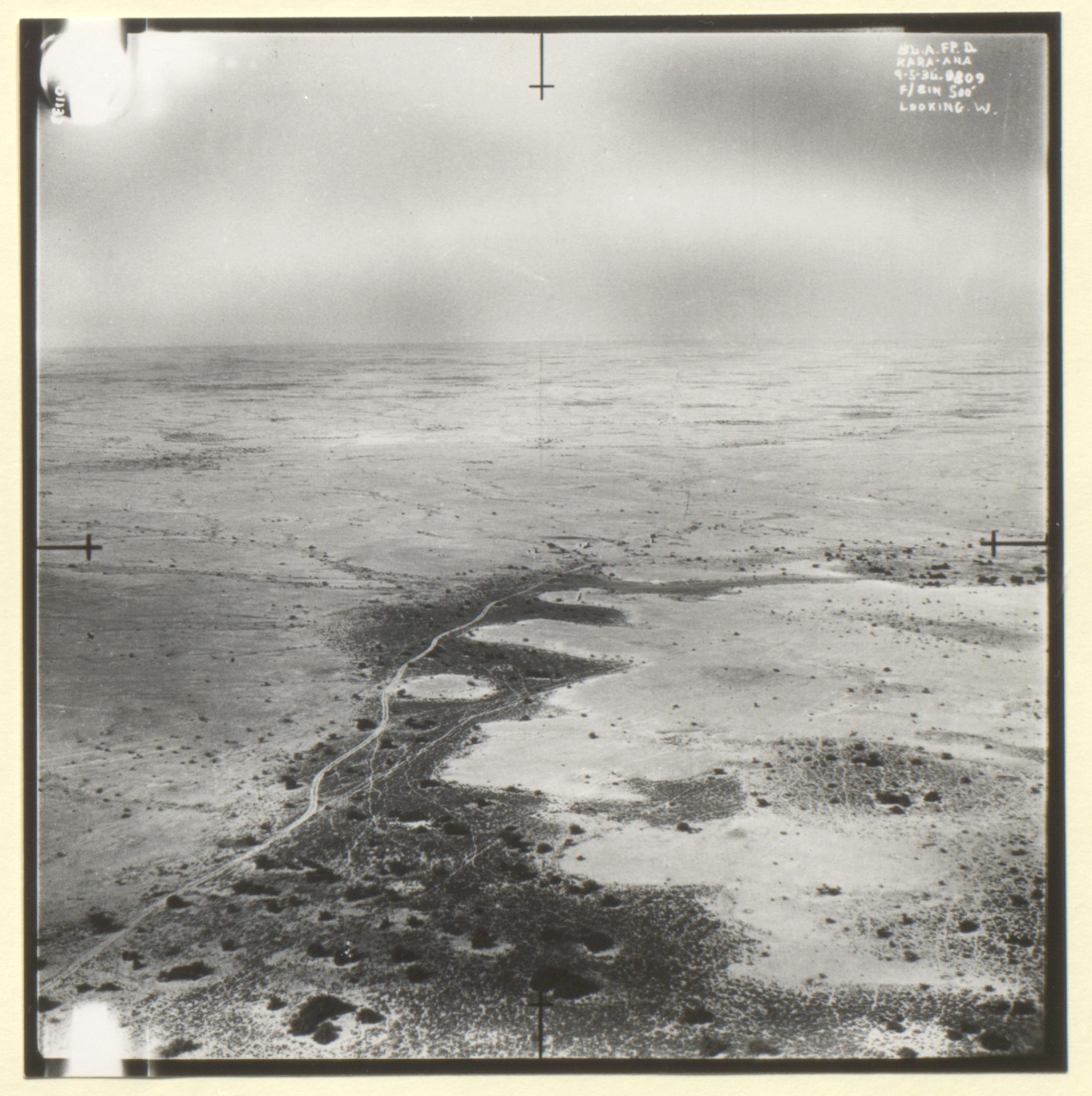 7th Royal Air Force photograph of Doha, Kara-Ana and Raiyan from a the file 'Air-route to India: Arab coast route; emergency landing ground at Qatar' (1934) (IOR/L/PS/12/1956)