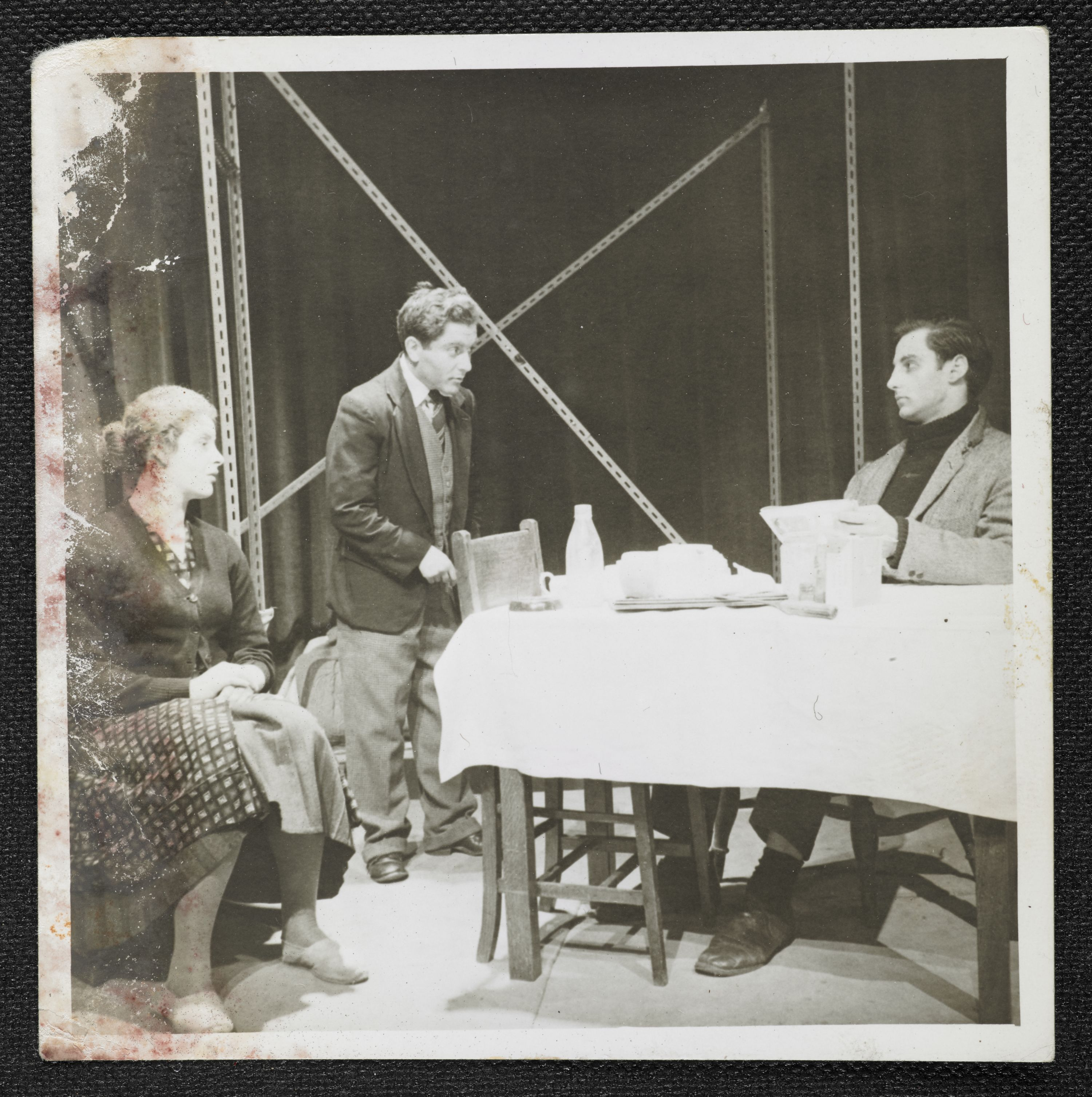 A rehearsal of 'The Room', Pinter's first play, at Bristol University in 1957. Courtesy of the Estate of Harold Pinter