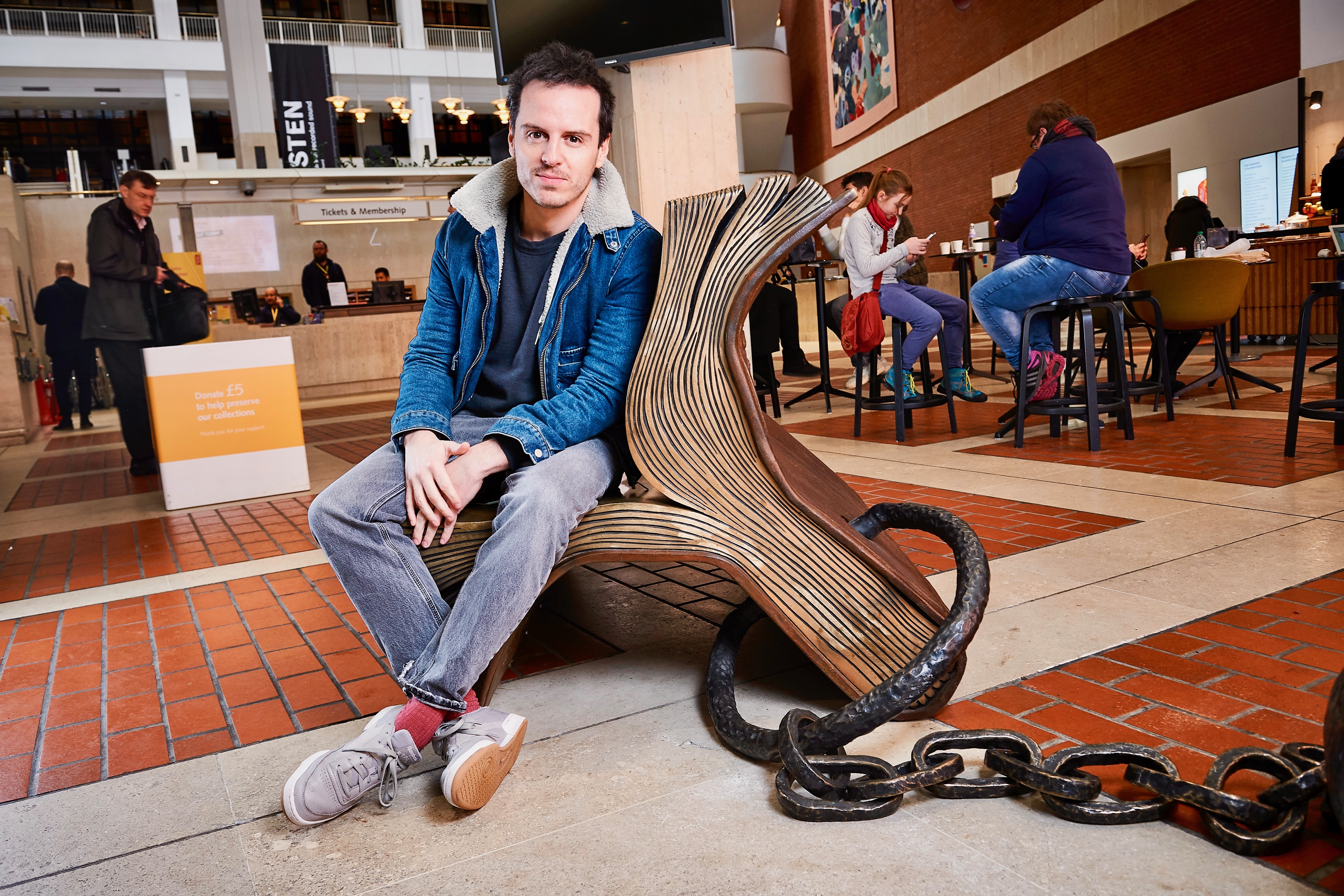 Andrew Scott at the British Library