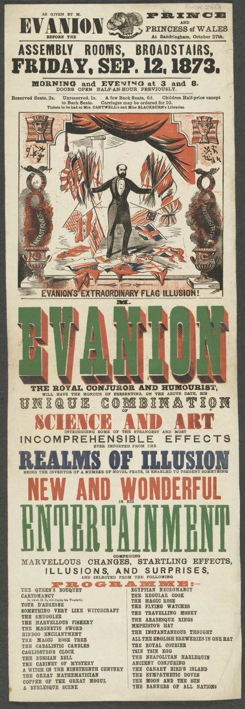 Evanion's entertainment at the Assembly Rooms, Broadstairs