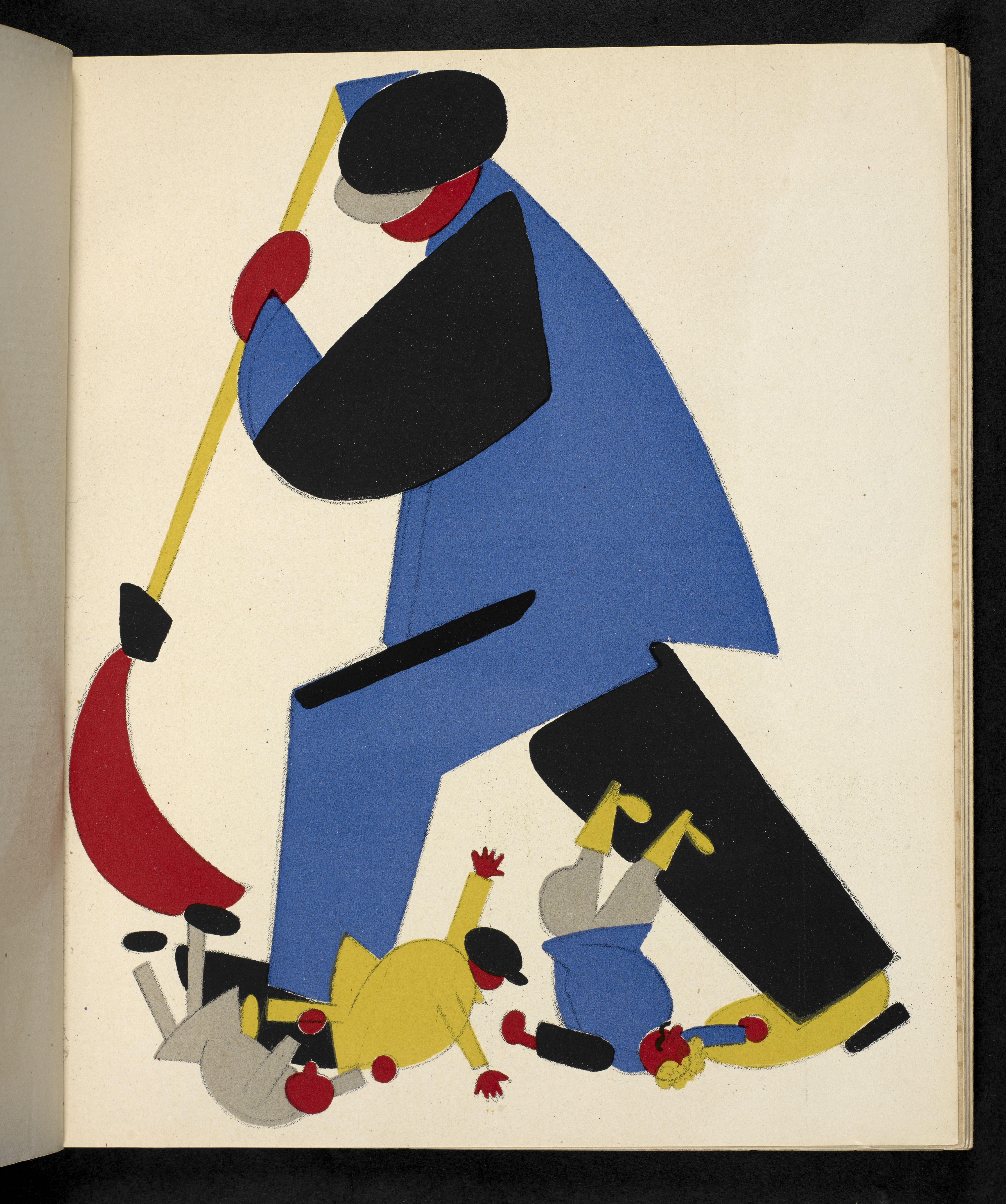 'A worker Sweeping Criminals out of the Soviet Land' from Russian Placards 1917-22 (c) British Library Board