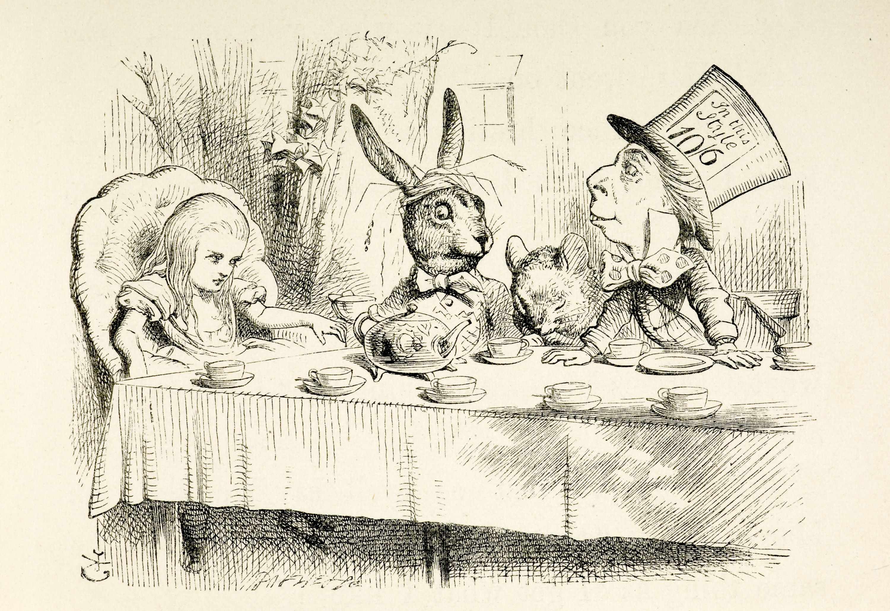 Artwork by John Tenniel from the first edition of Alice's Adventures in Wonderland (1865) Photography courtesy of the British Library
