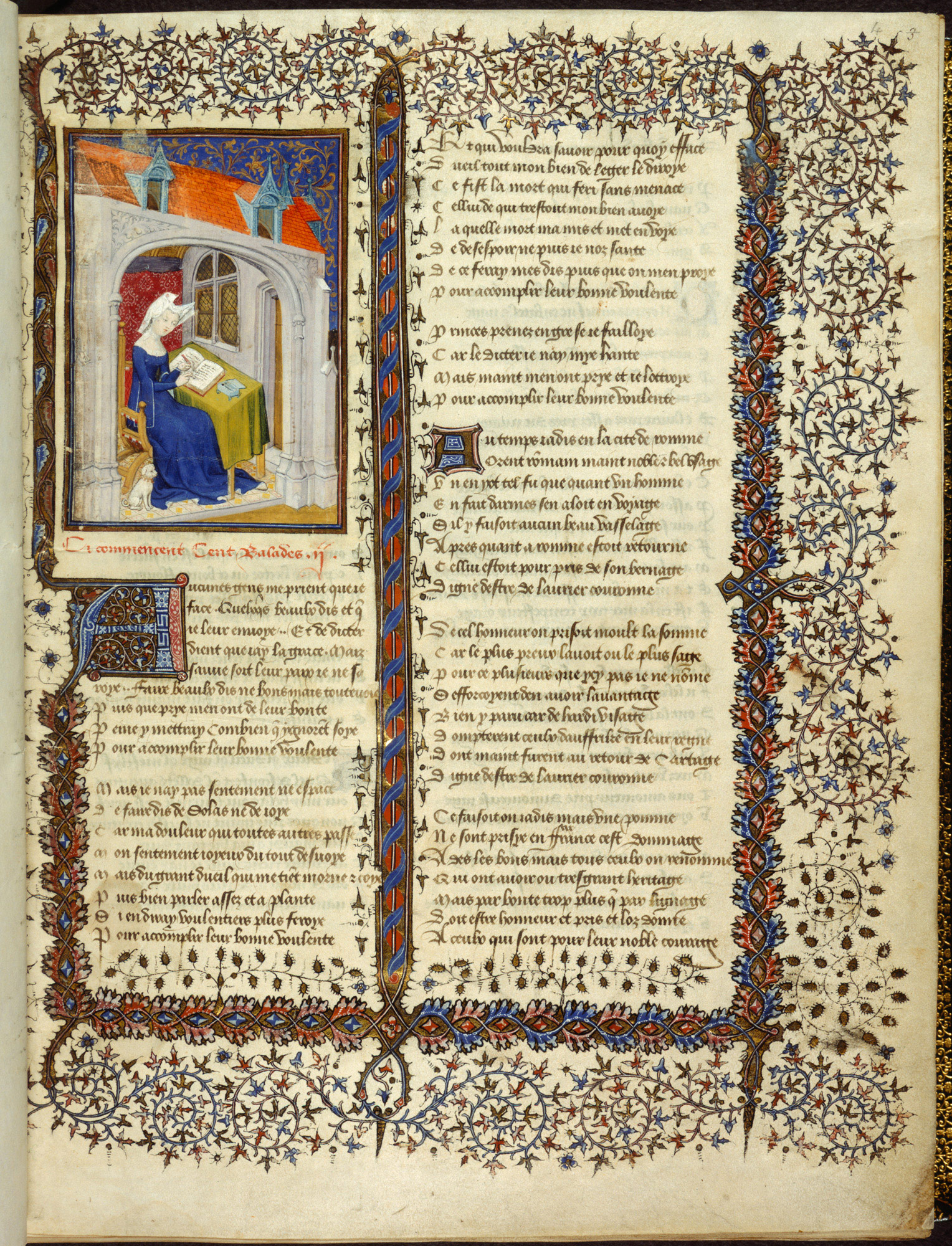 The Book of the Queen, written by Christine de Pizan, the first female writer to earn a living from her work (Harley MS 4431) (c) British Library Board