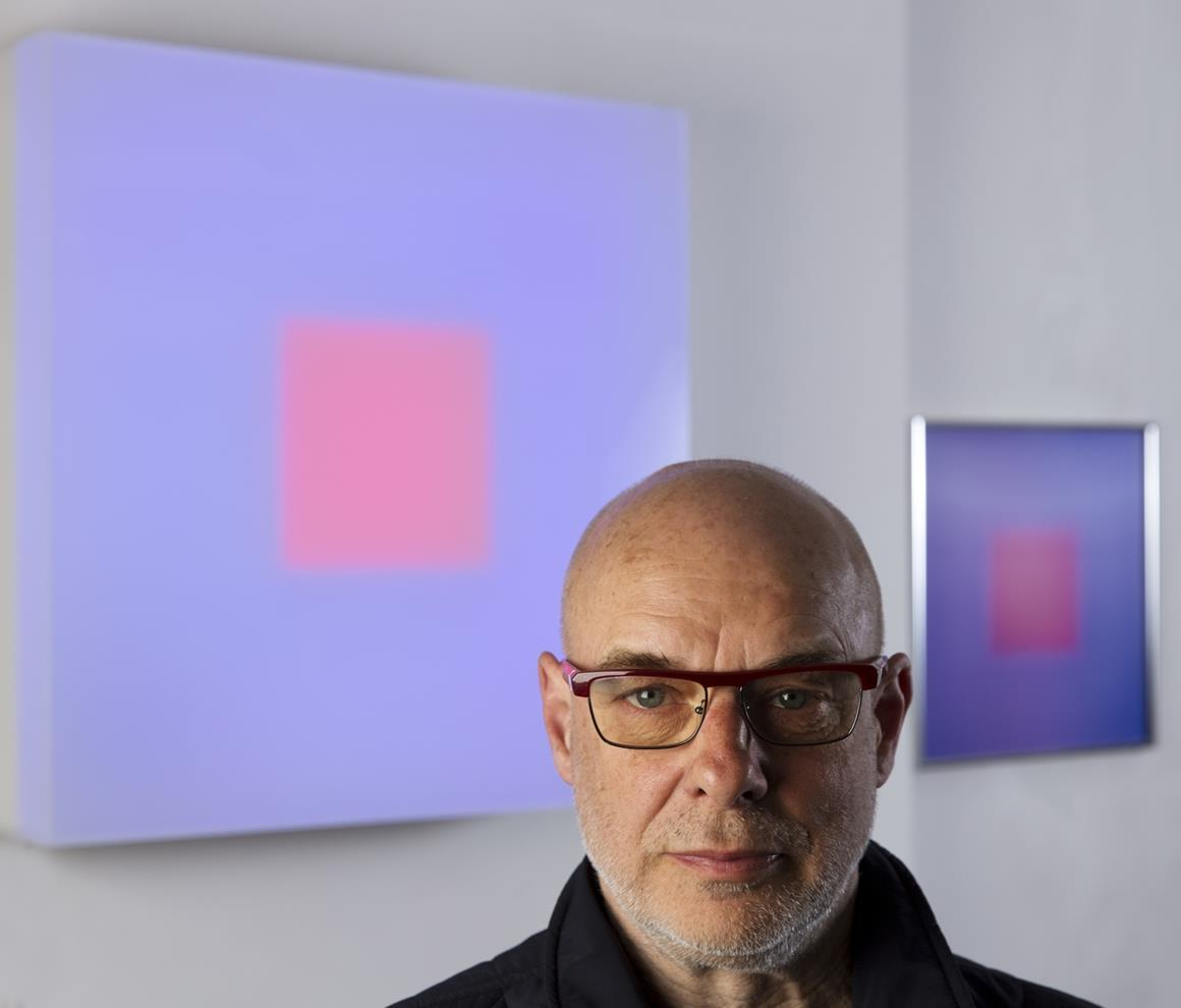 Brian Eno courtesy Paul Stolper Gallery photography (C) Mike Abrahams