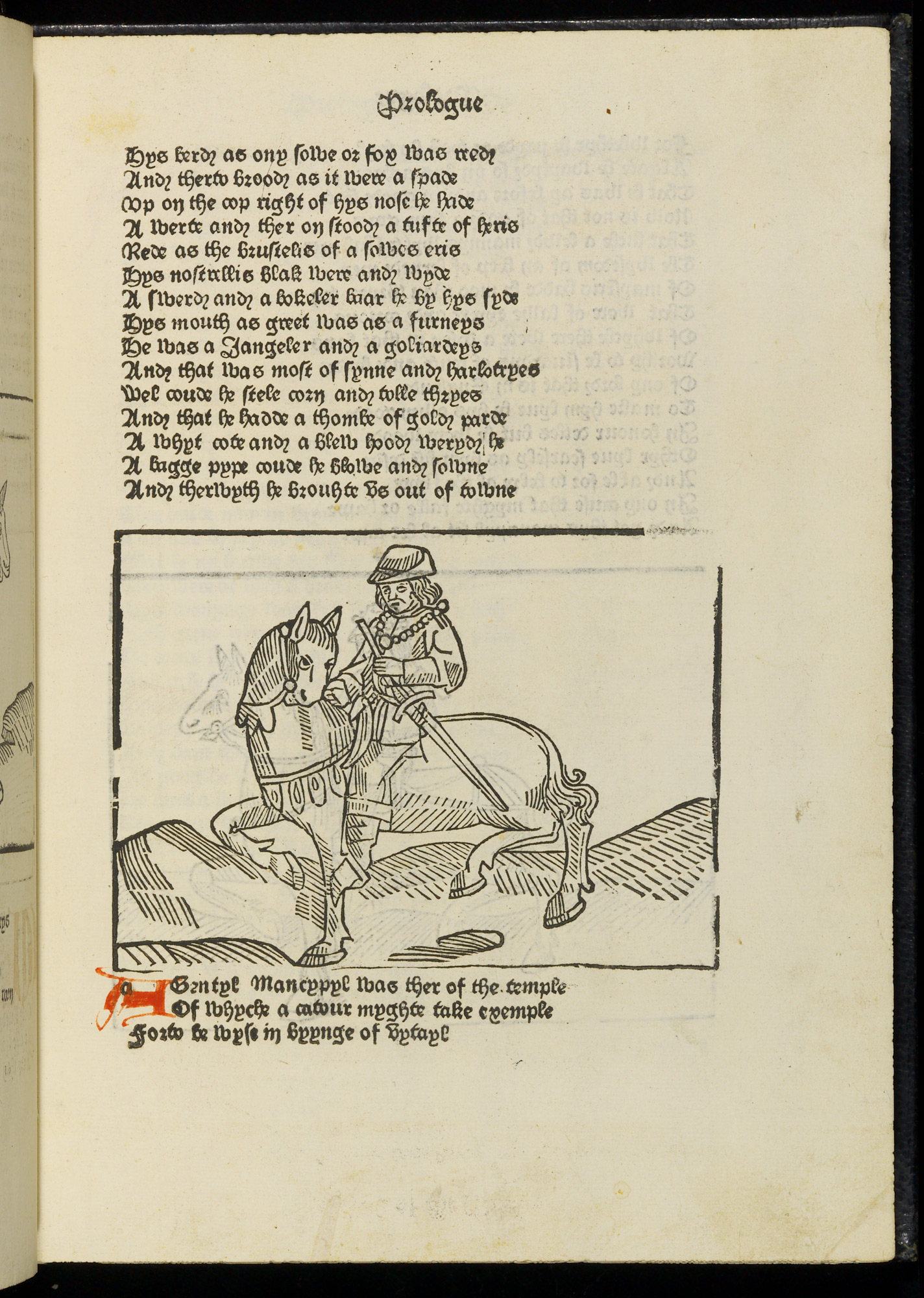William Caxton's pioneering illustrated print edition of The Canterbury Tales (G.11586) (c) British Library Board