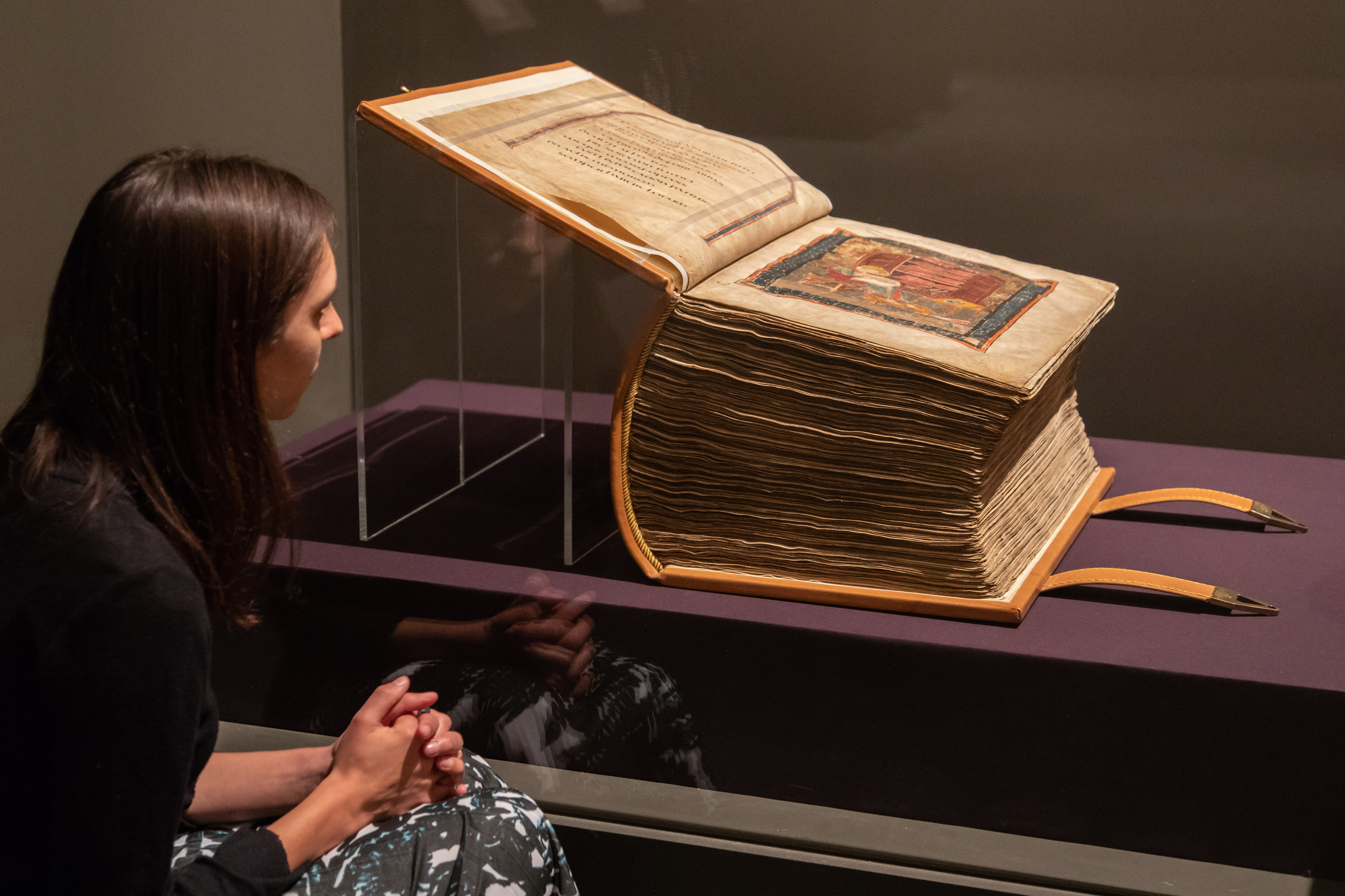 Codex Amiatinus on loan from Biblioteca Medicea Laurenziana to Anglo-Saxon Kingdoms at the British Library (c) Sam Lane Photography