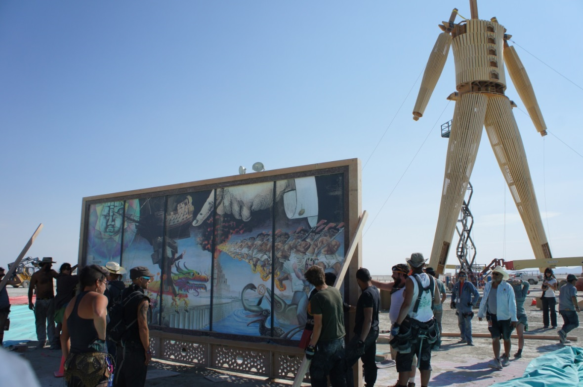 Crossroads of Curiosity, by David Normal, at Burning Man festival 2014.