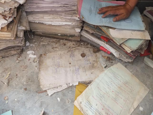 Documents found in the remote hills of Mizoram, northeast India. Endangered Archives Programme. Photography © Dr Kyle Jackson