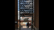 British Library gates  Paul Grundy
