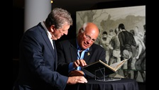 Roy Hodgson and Greg Dyke looking at 1863 FA Minute Book c Getty Images  Football Association
