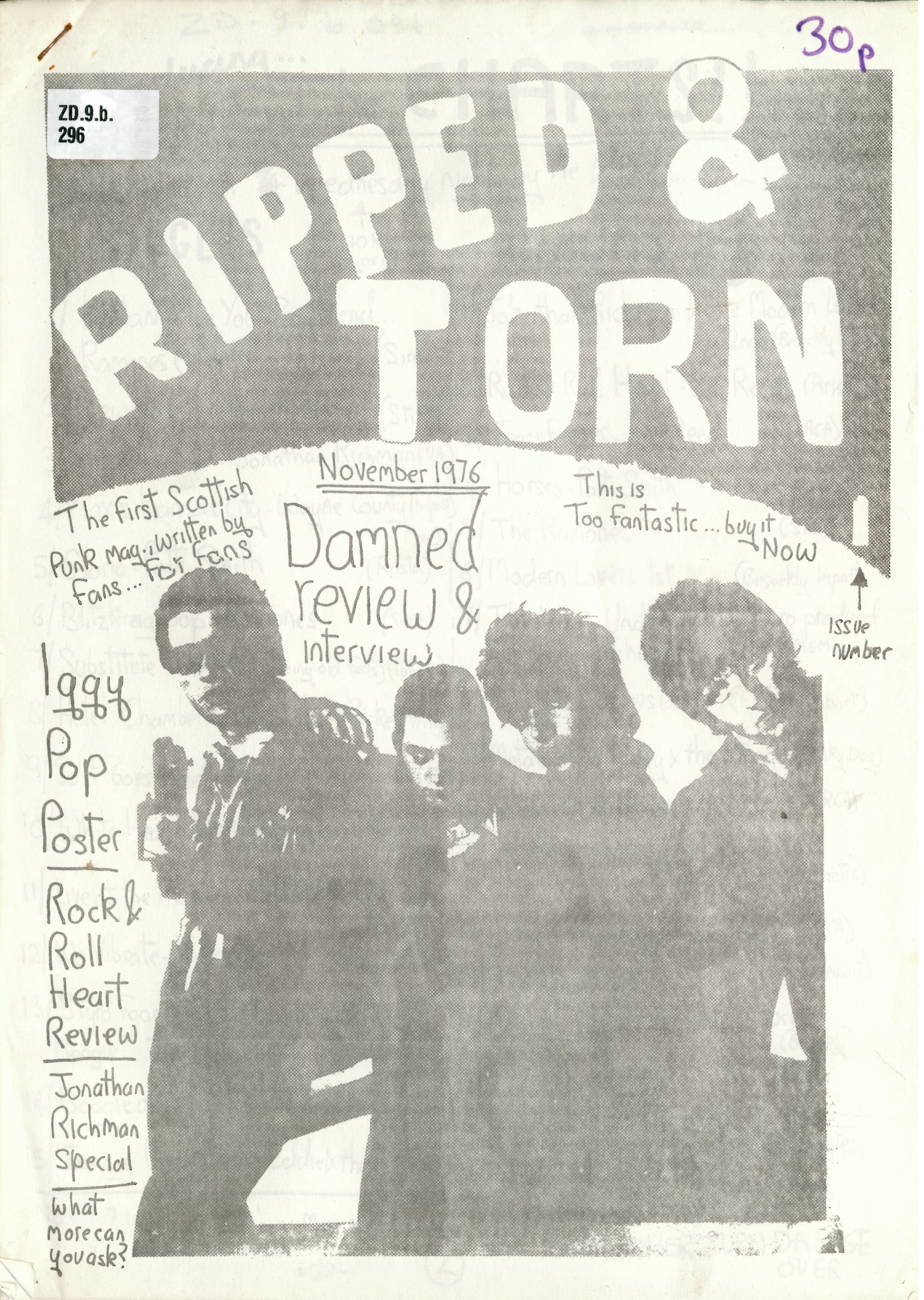 The first issue of Ripped and Torn created by Tony Drayton (Tony D) on display at Punk 1976-78 at the British Library