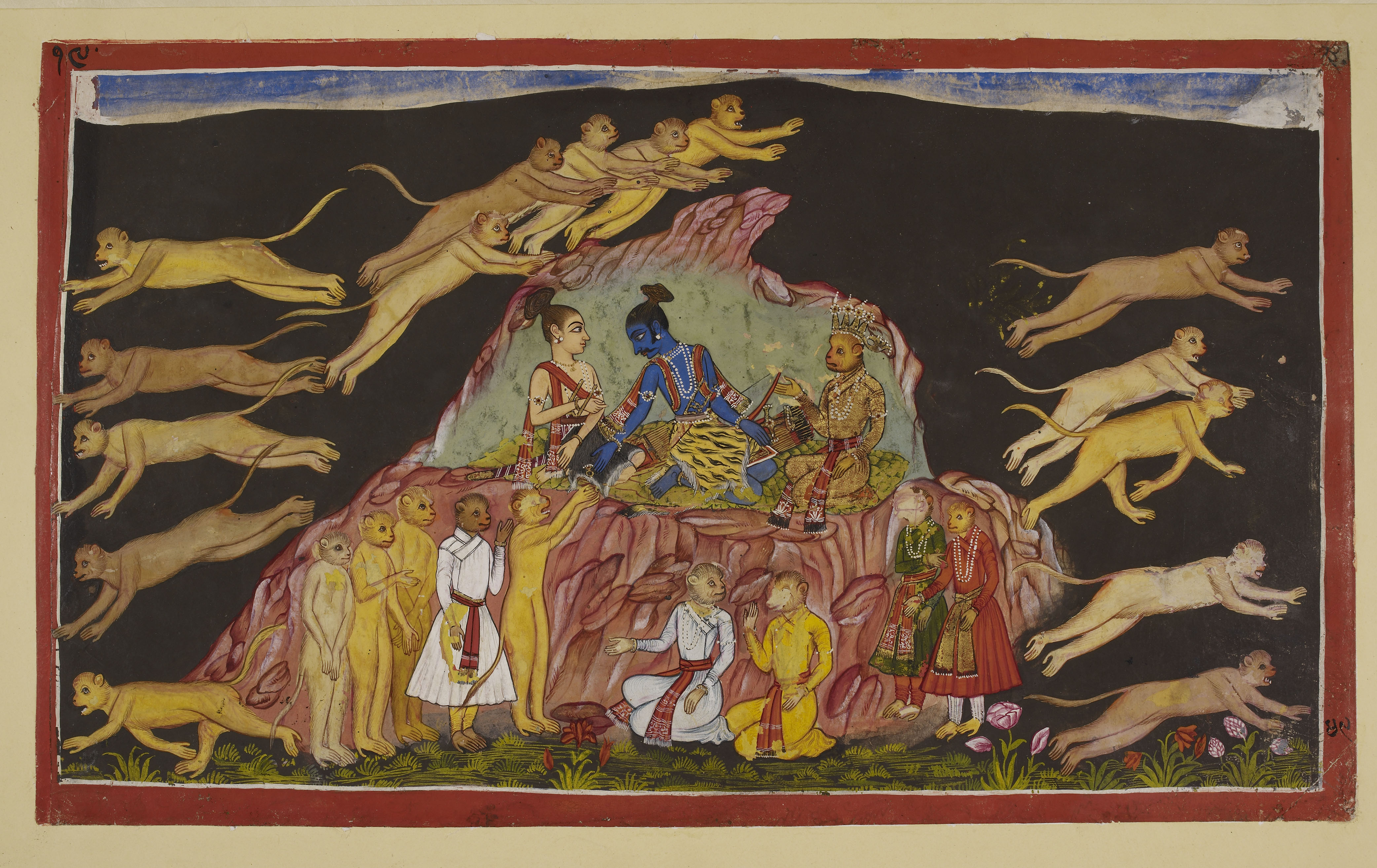 Folio from Book IV of the Ramayana. Copyright: British Library Board