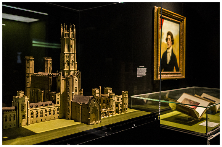 Fonthill Abbey model in Terror and Wonder at the British Library c Tony Antoniou