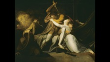 Percival Delivering Belisane from the Enchantment of Urma by Henry Fuselli on display in Terror and Wonder c Tate