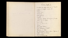 George Orwell notes for Nineteen Eighty-Four (With kind permission of the estate of the late Sonia Brownell Orwell)
